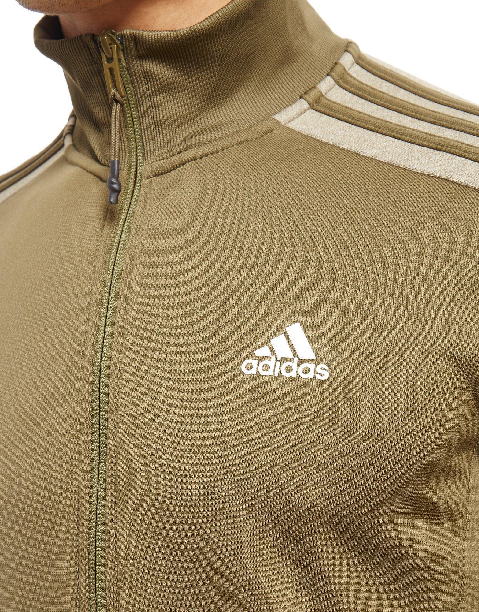 lyst adidas reflex track top in green for men. Black Bedroom Furniture Sets. Home Design Ideas