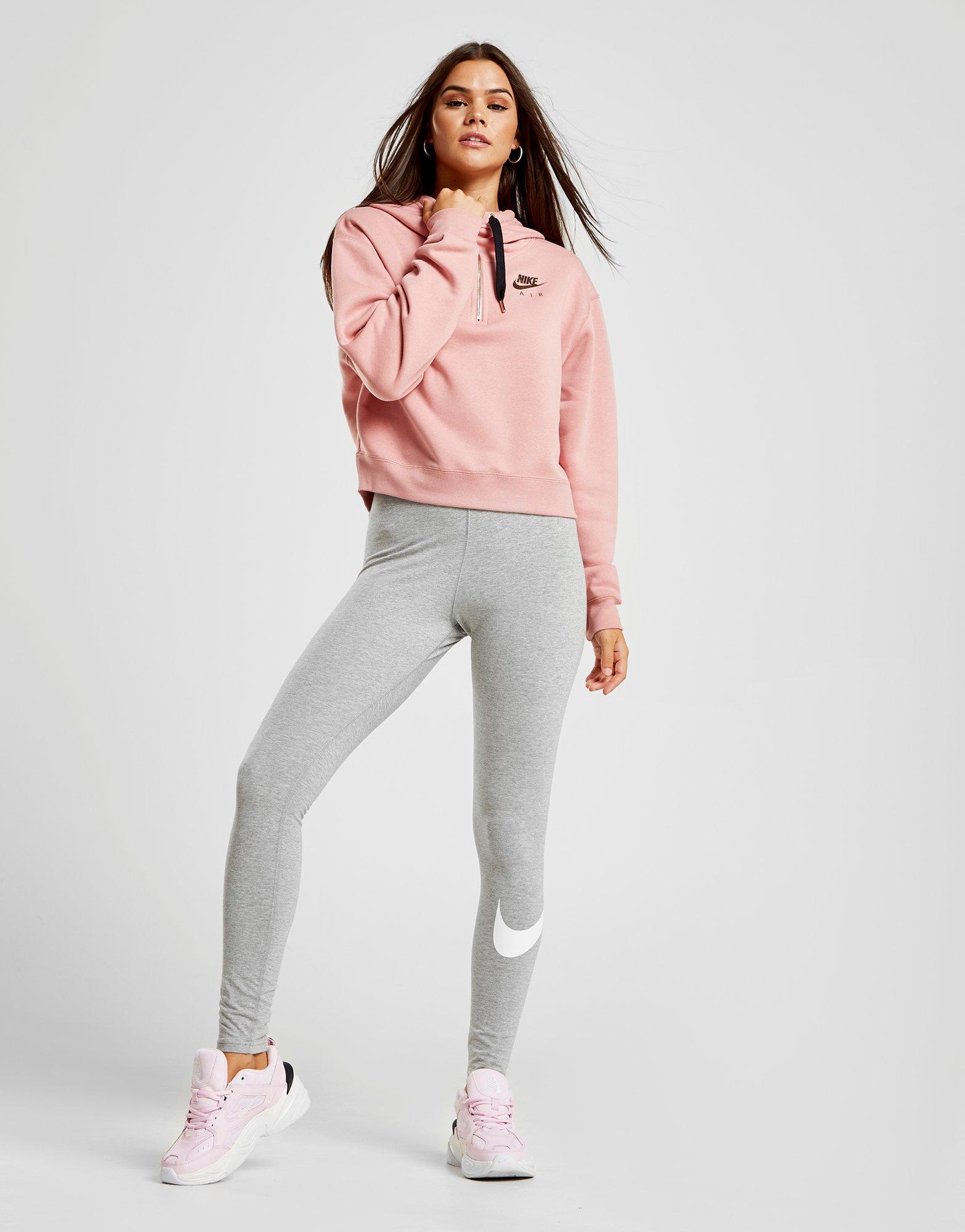 Nike Cotton Air Half-zip Hoodie in Pink