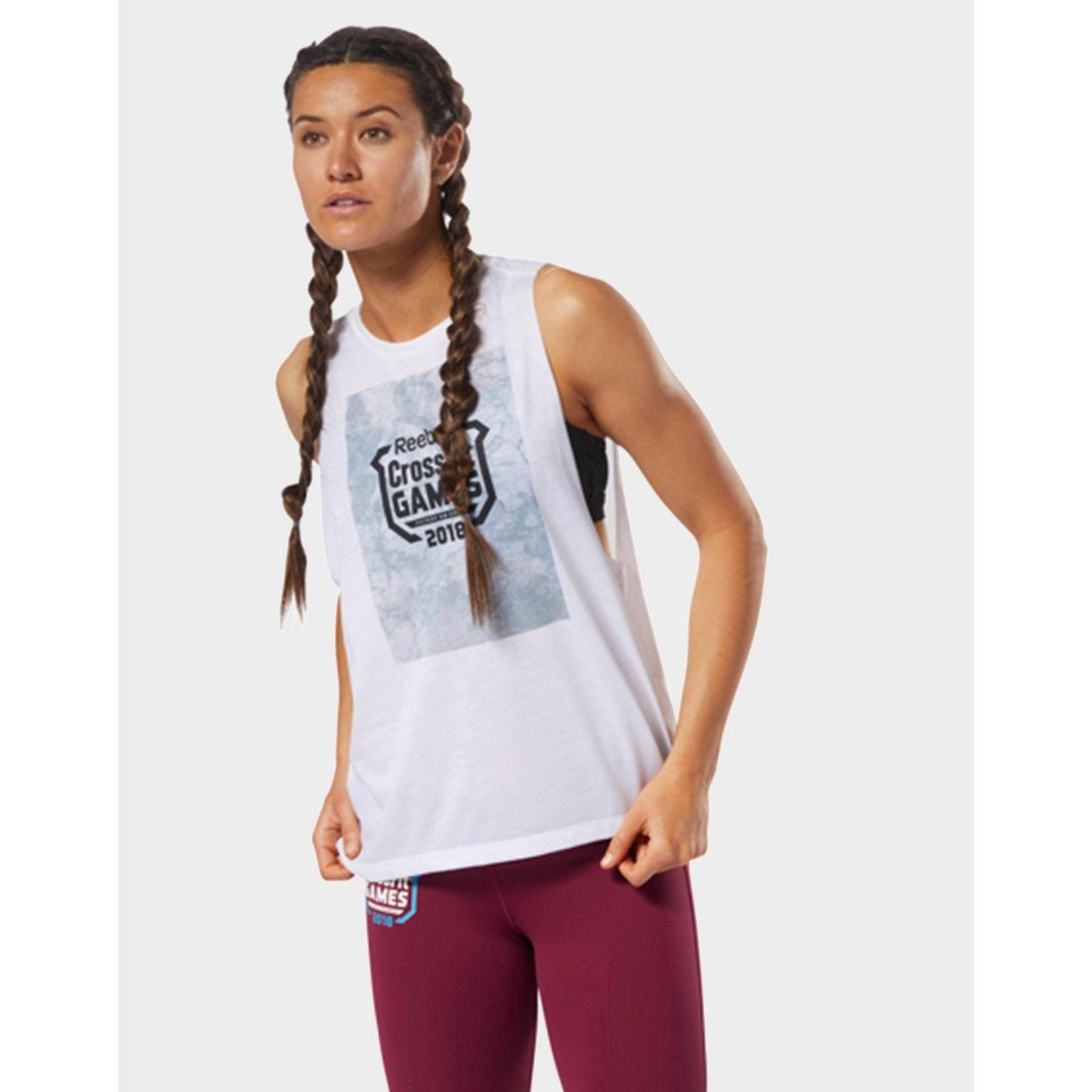5269acbee27684 Reebok Crossfit Tank in White - Save 4% - Lyst