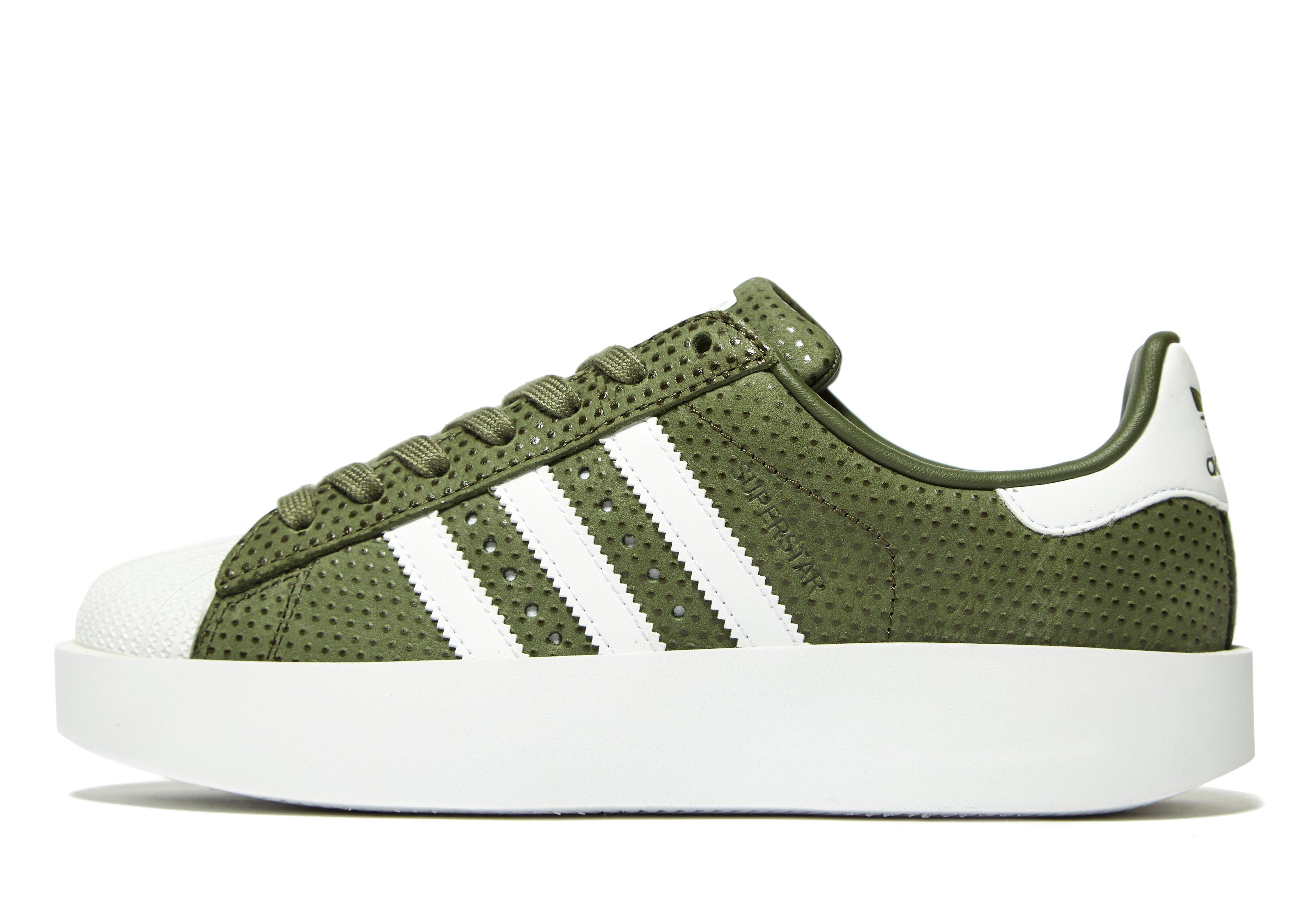 low priced 0a858 78f02 Adidas Originals Green Superstar Bold