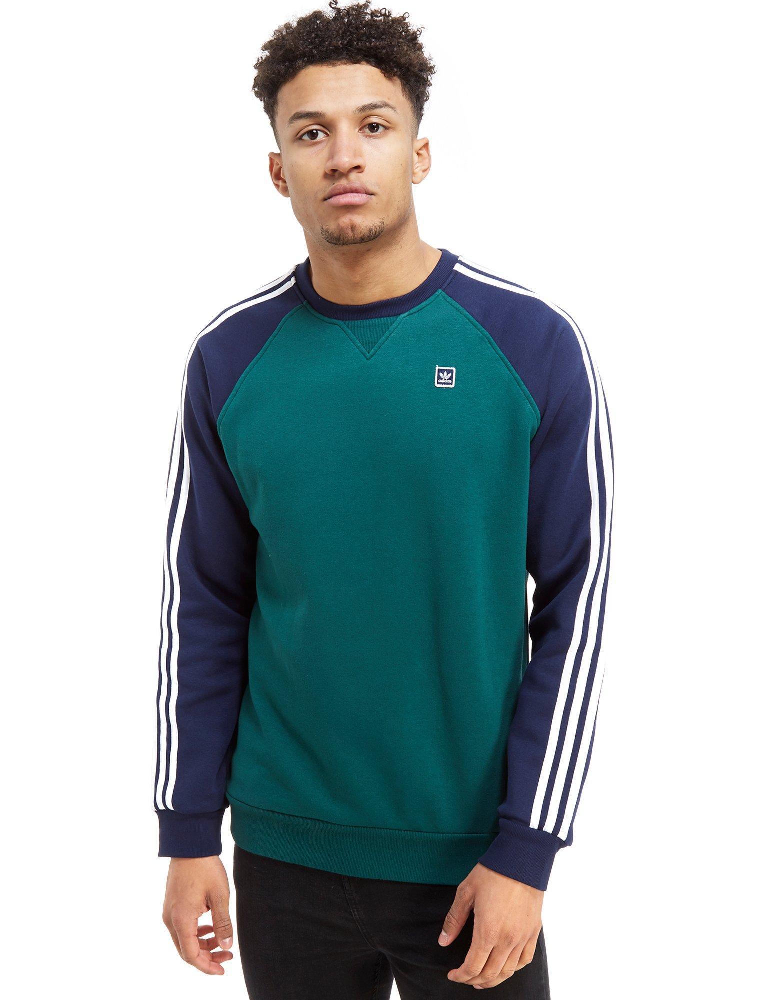 ce8b838f83e5 adidas Originals Skateboarding Raglan Crew Sweatshirt in Blue for ...
