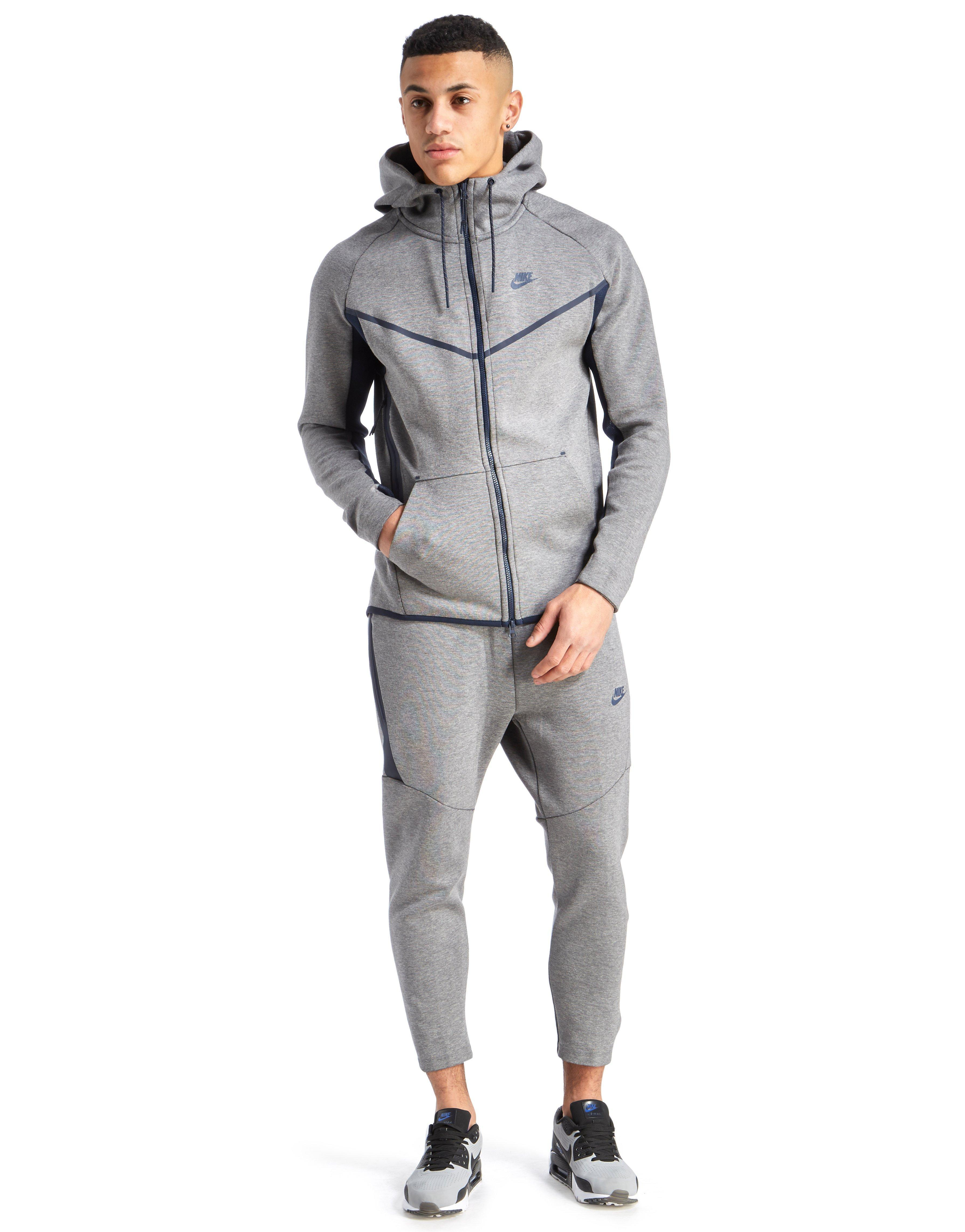 Nike Tech Fleece Crop Pants In Grey Gray For Men Lyst
