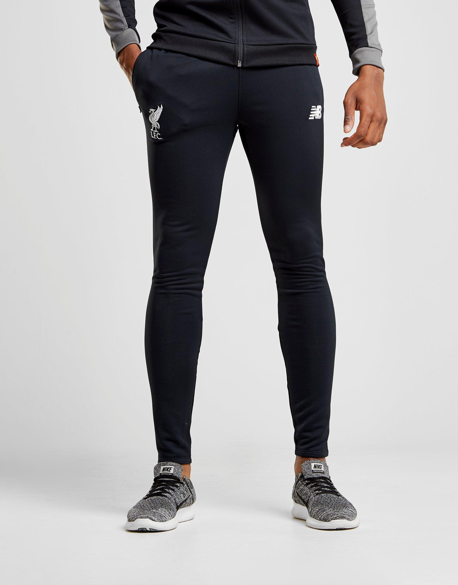 New Balance Synthetic Liverpool Fc Tech Pants In Black White Black For Men Lyst
