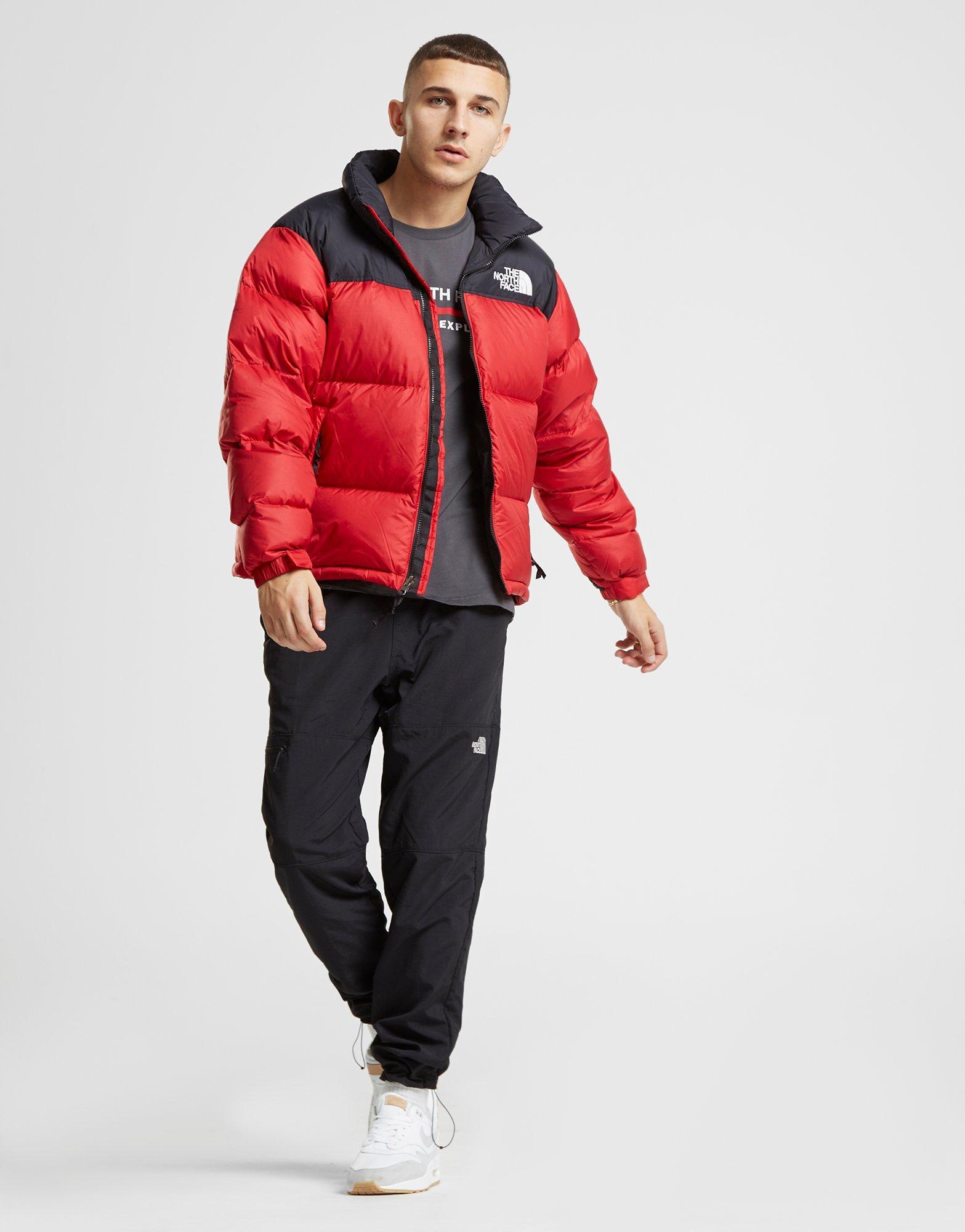 686dd49667 Mens Nuptse Bib Black online store 69834 eede0  Lyst - The North Face Nuptse  1996 Jacket in Red for Men - Save 12.269938650306742% ...