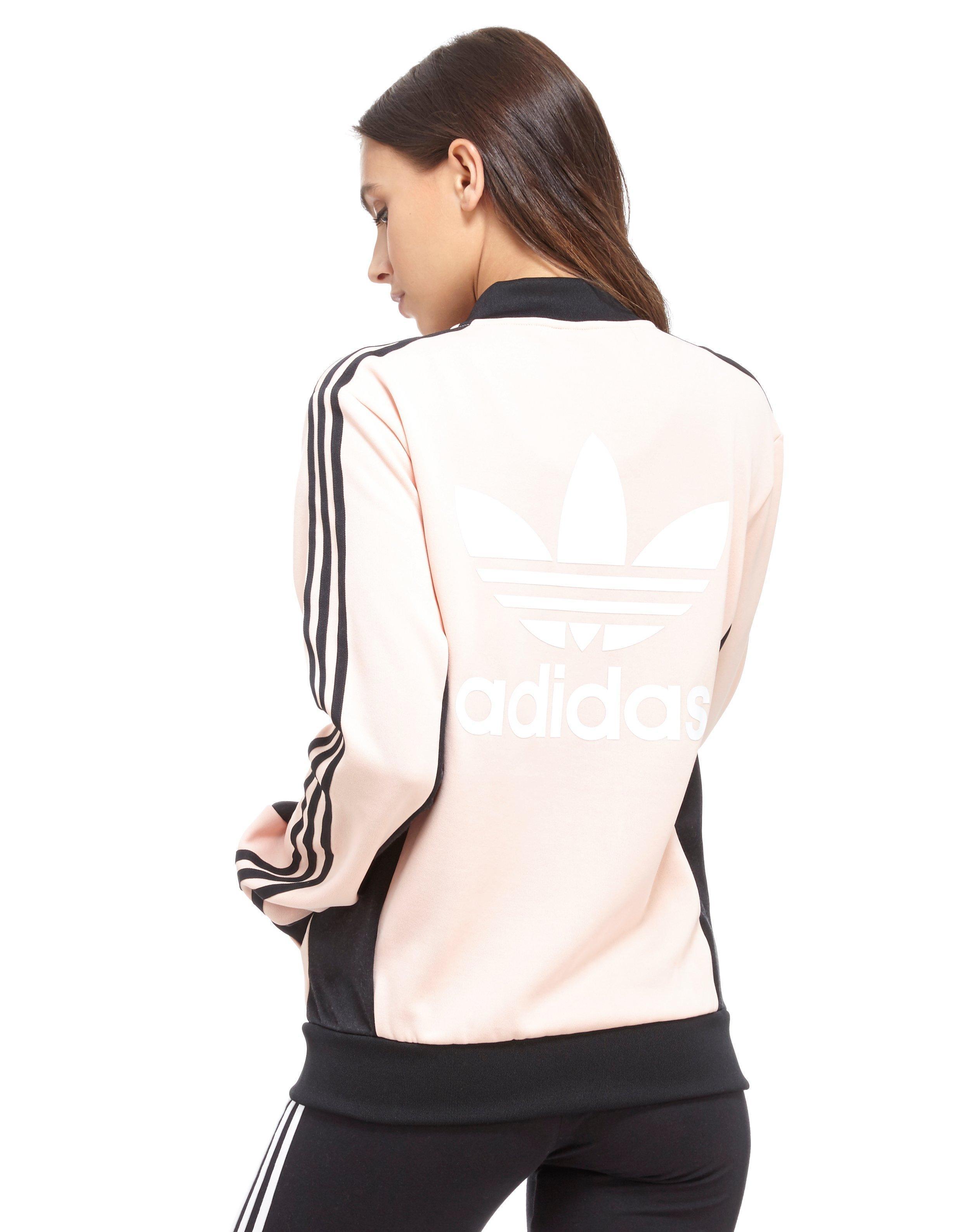 Adidas Top Ten Hi Sleek Bow Zip Trainers: Adidas Originals Supergirl Track Top In Pink