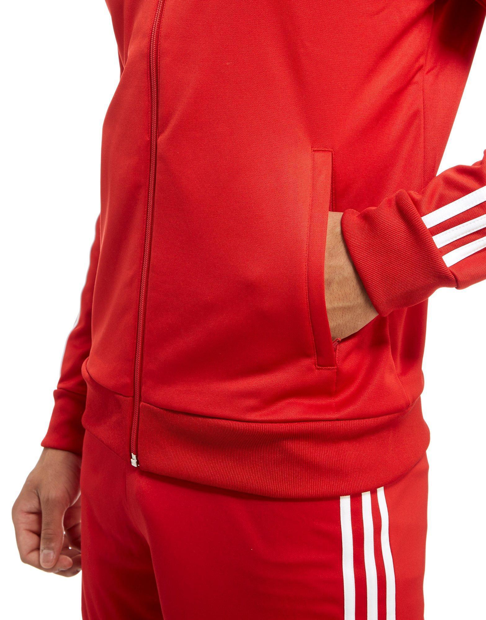 9189dffa409 Adidas Originals - Red Fc Bayern Munich 3-stripe Track Top for Men - Lyst