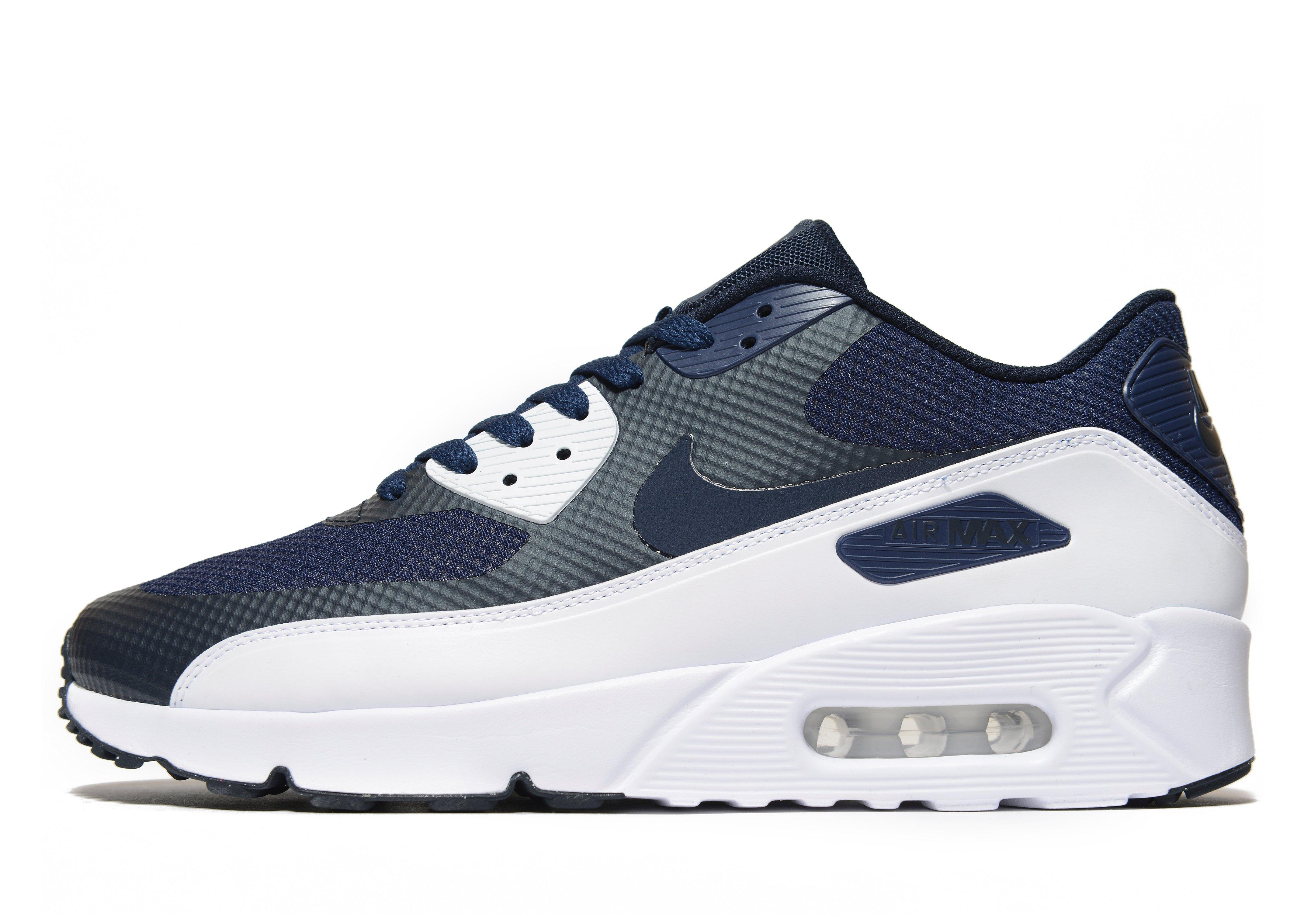 lyst nike air max 90 ultra essential 2 0 in blue for men. Black Bedroom Furniture Sets. Home Design Ideas