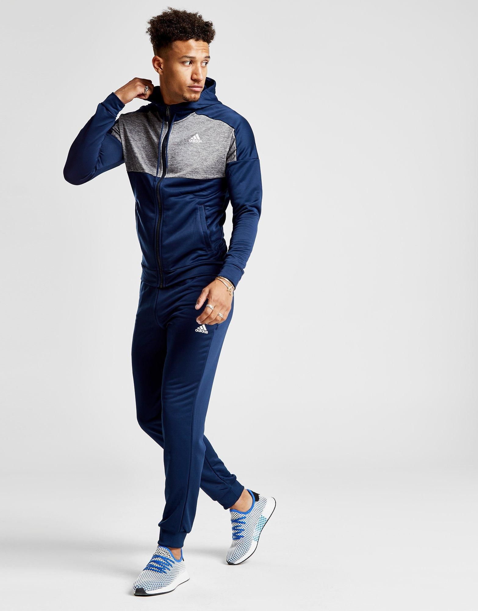cbccb1c1365b Lyst - adidas Game Time Tracksuit in Blue for Men