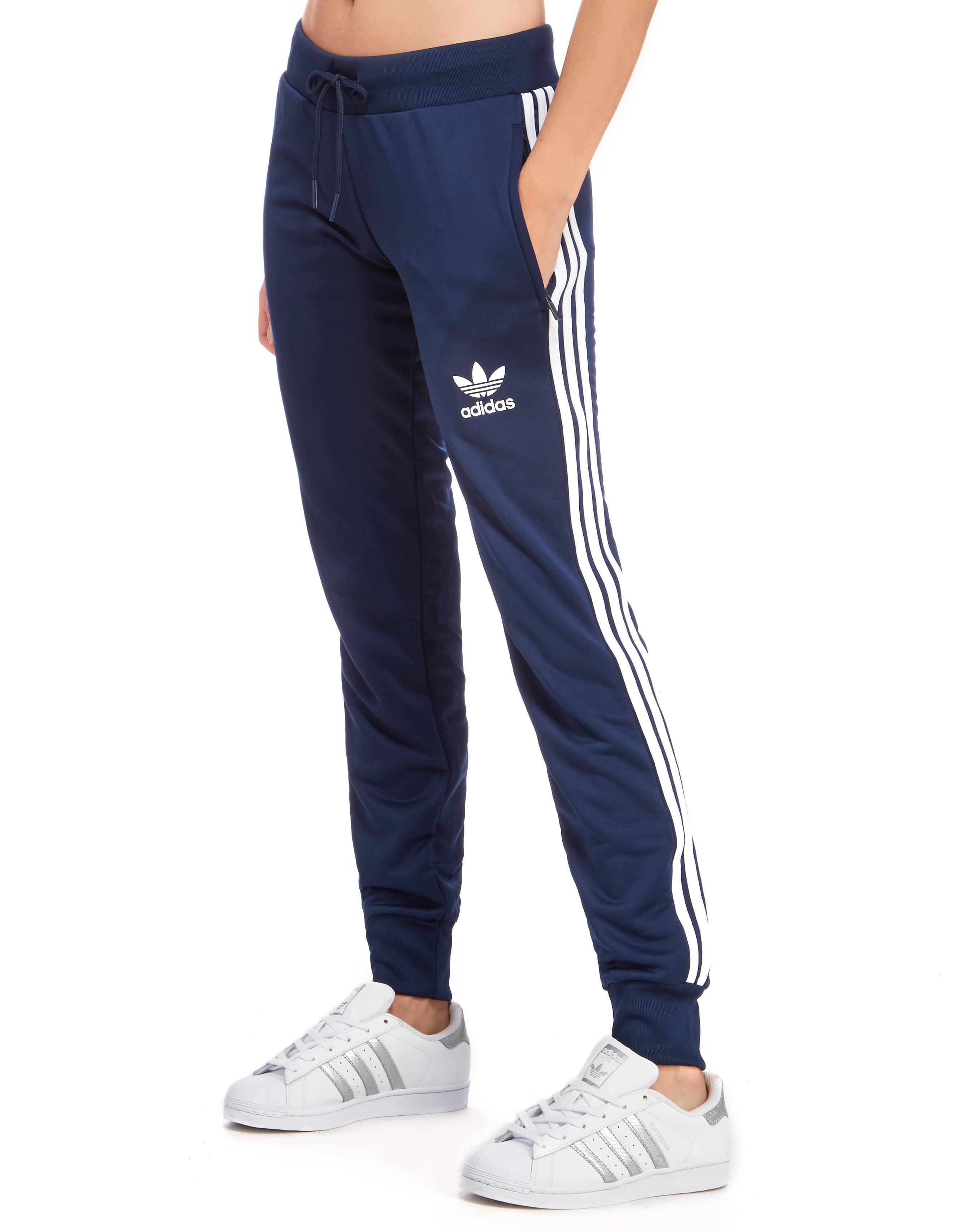 adidas 3 stripes pants blue