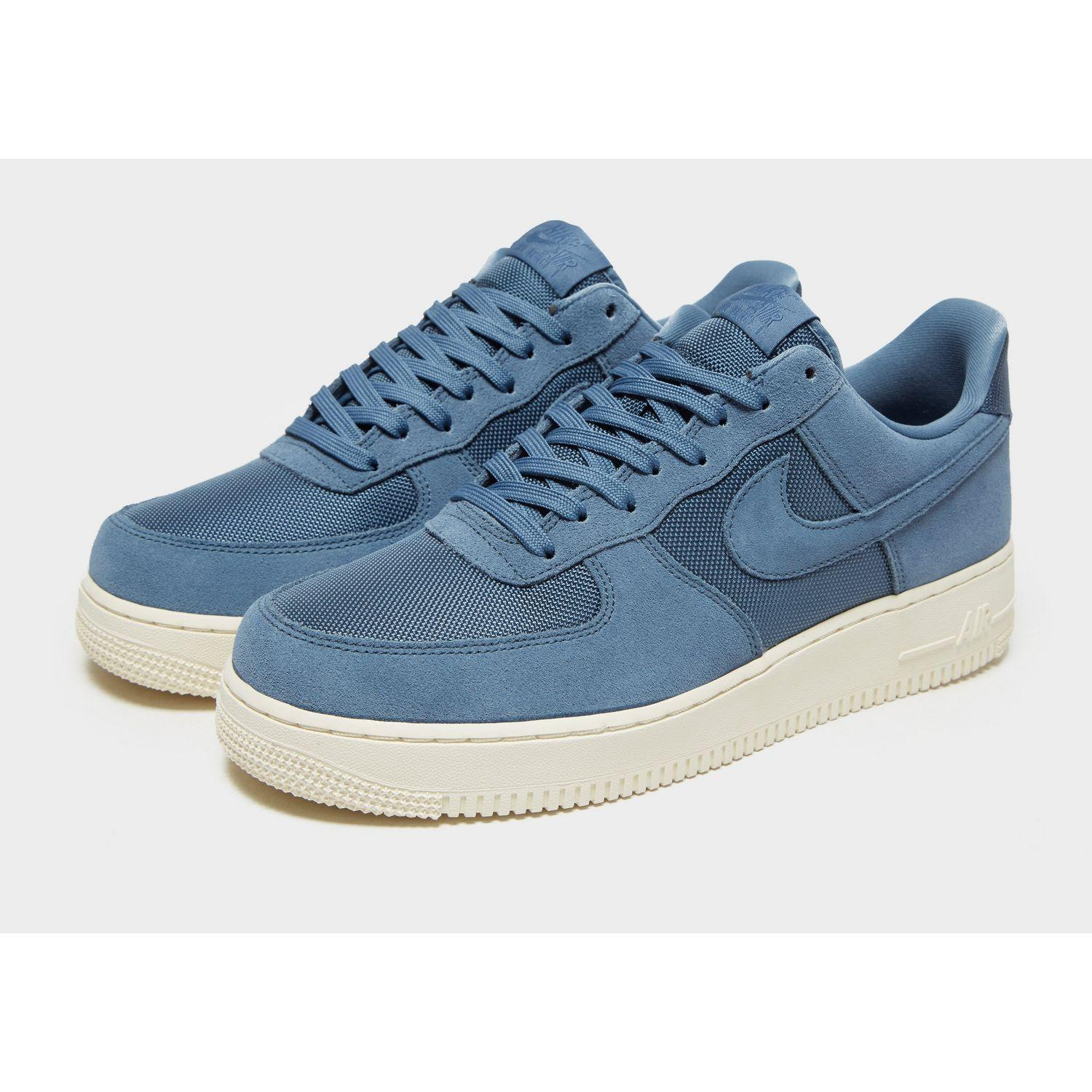 Nike Suede Air Force 1 '07 Low Essential in Blue/White (Blue) for ...