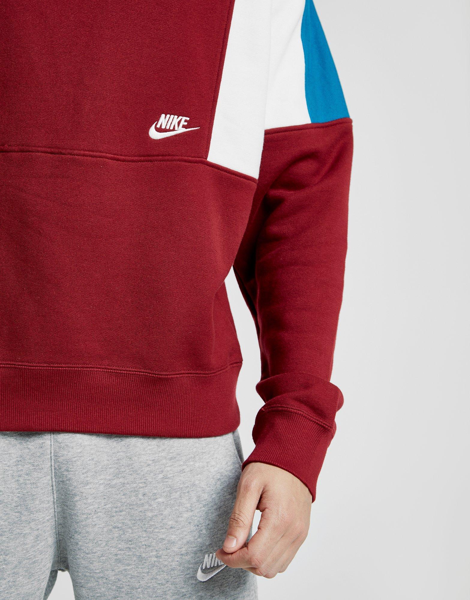 Predownload: Nike Cotton Reissue Crew Sweatshirt In Red Blue Red For Men Lyst [ 2000 x 1567 Pixel ]