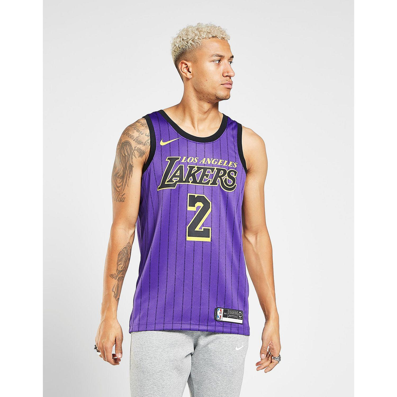 Nike Nba Los Angeles Lakers Ball  2 City Jersey in Purple for Men - Lyst c3339c054