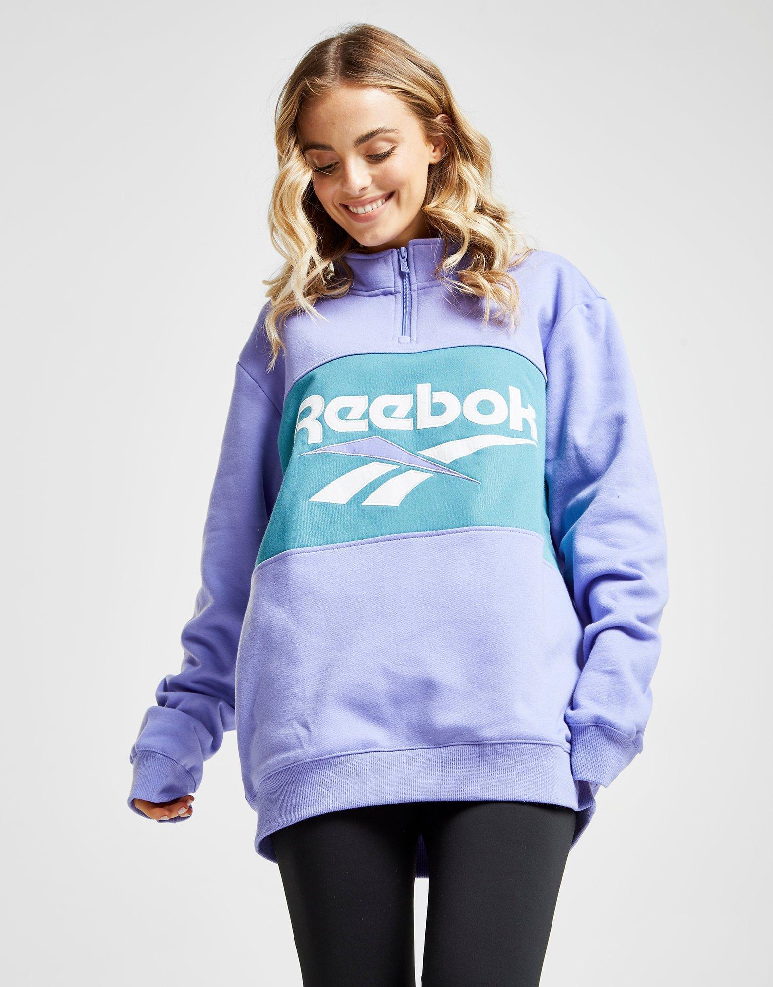 retro super barato se compara con en venta Reebok Cotton Vector 1/4 Zip Sweatshirt - Lyst