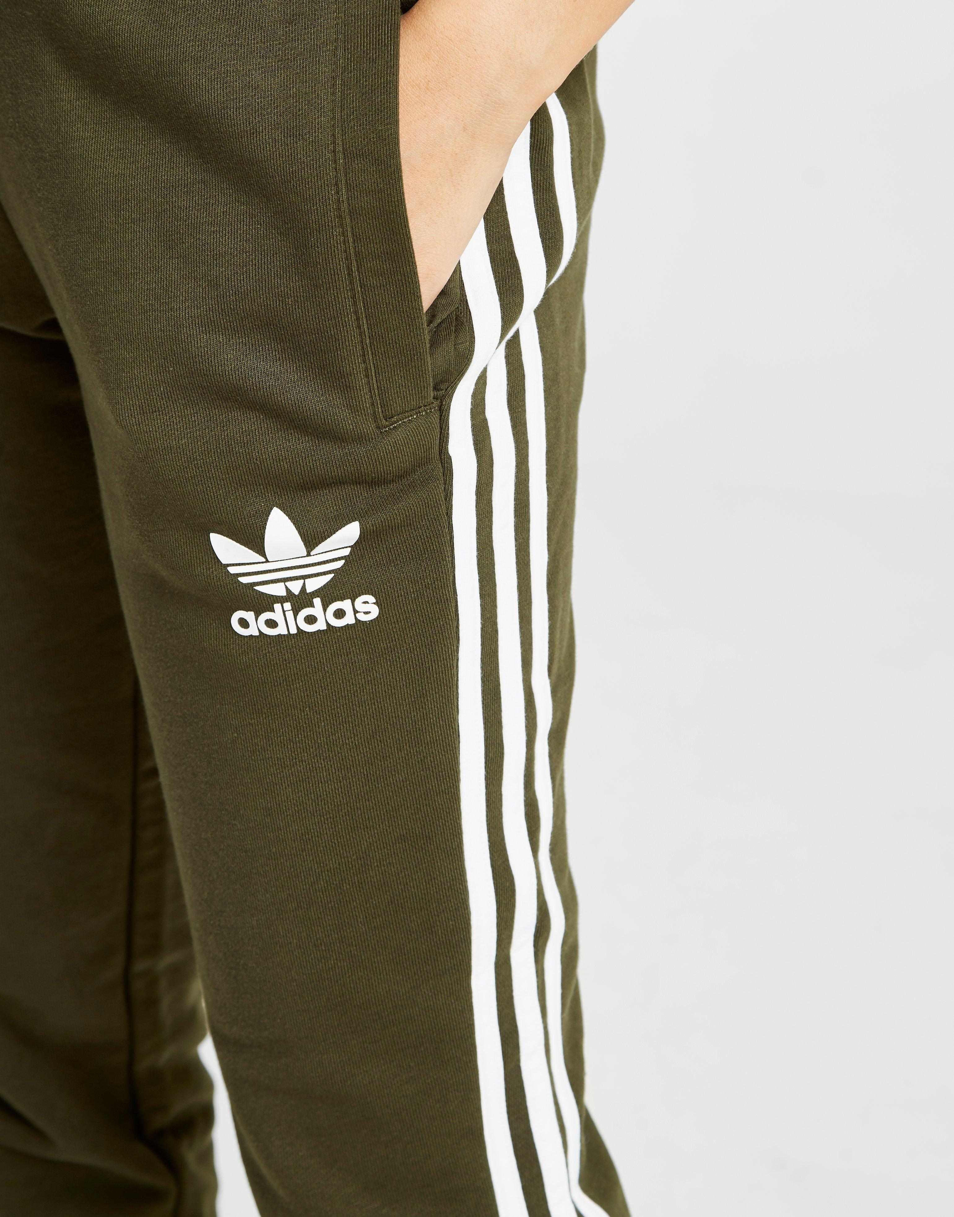 d0999988d84 adidas Originals 3-stripes California Fleece Track Pants in Green - Lyst
