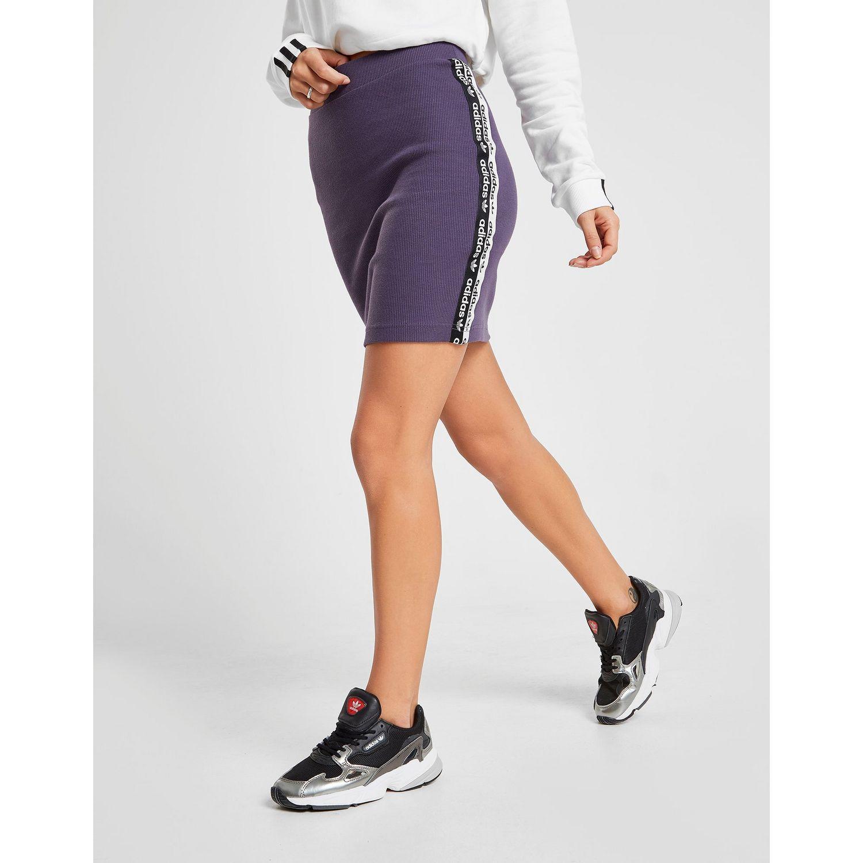 fd9f258adaca0 Adidas Originals Purple R.y.v. Ribbed Logo Tape Skirt