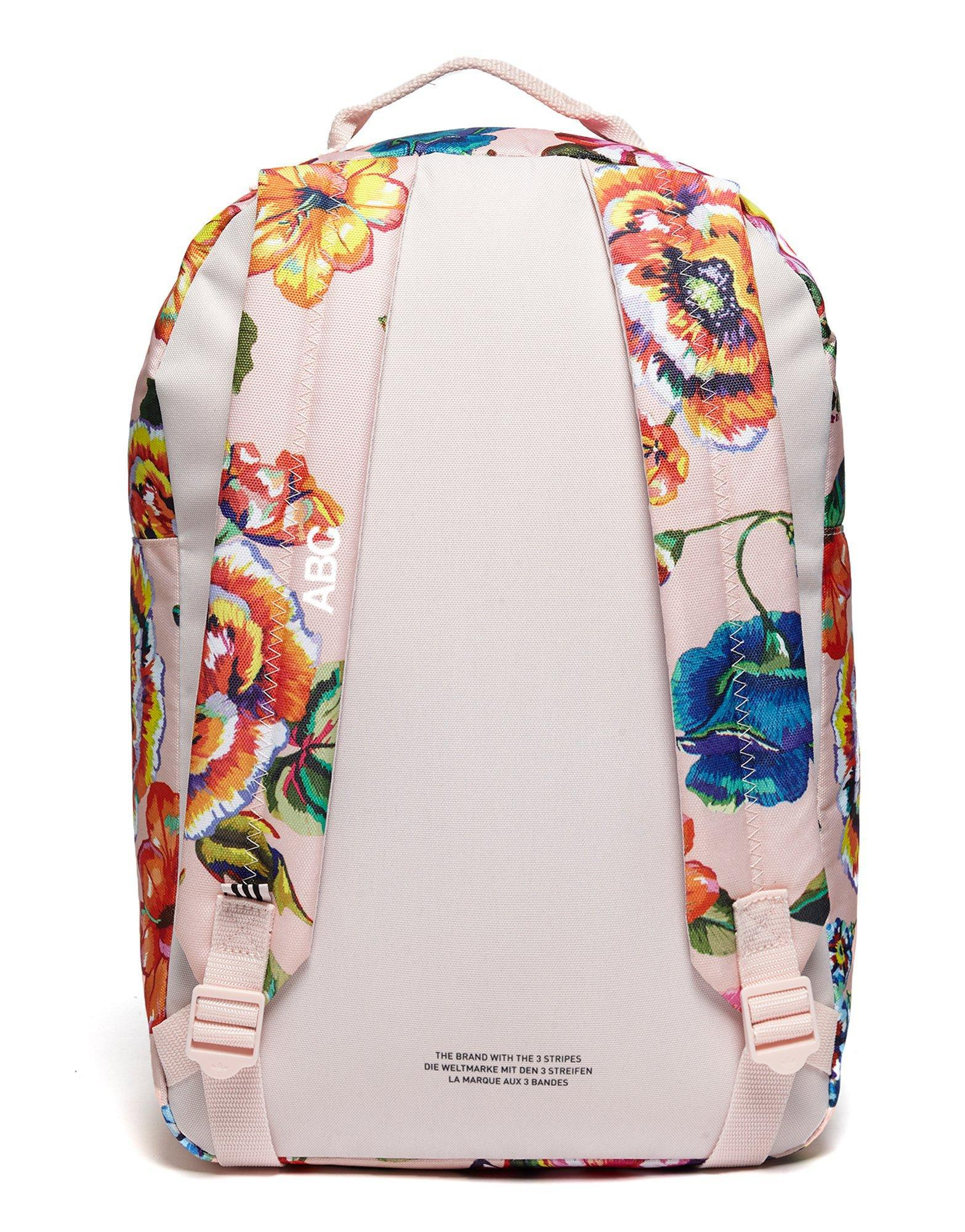 47fca7b66a adidas Originals Farm Floralita Backpack in White - Lyst