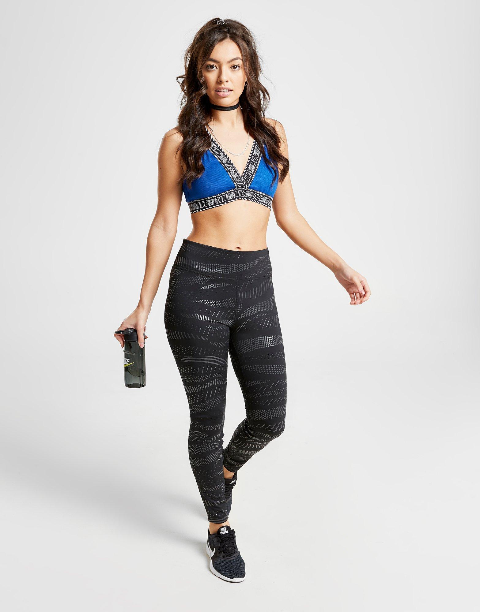 cfd02b83fe Nike - Blue Training Indy Light Sports Bra - Lyst. View fullscreen