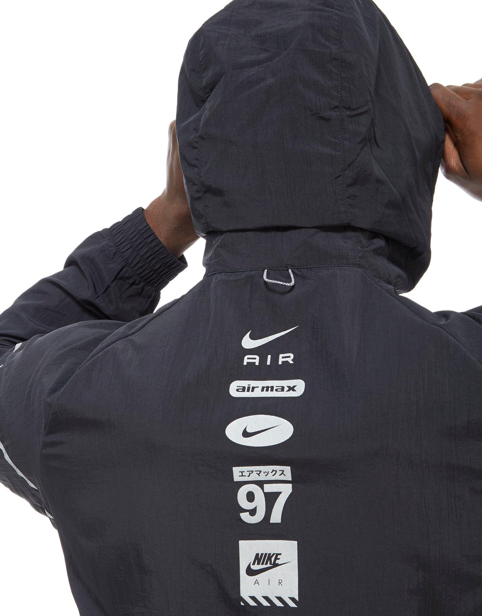 Nike Synthetic Air Hybrid 12 Zip Woven Jacket in Black for