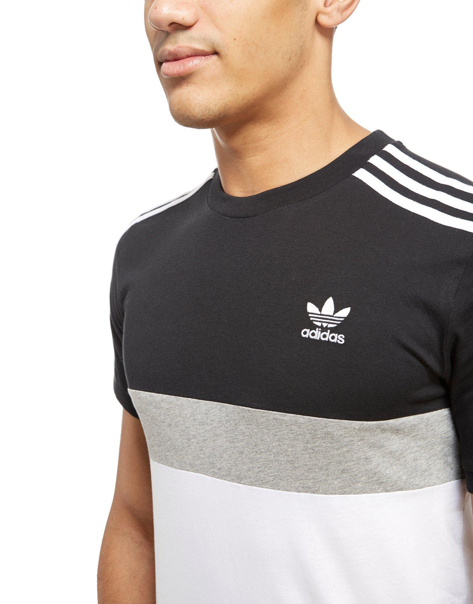 adidas Originals Synthetic California 2 T-shirt in Pink/White/Grey ...