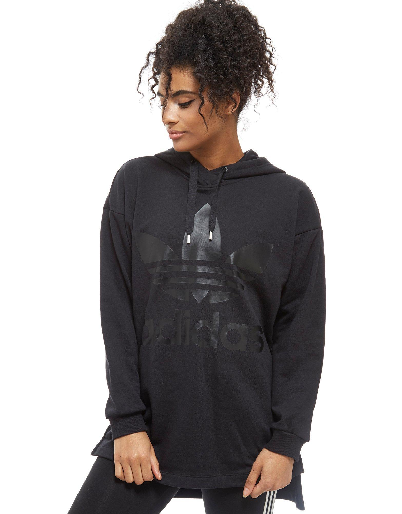 adidas Originals Trefoil Hoodie Dress in Black Lyst