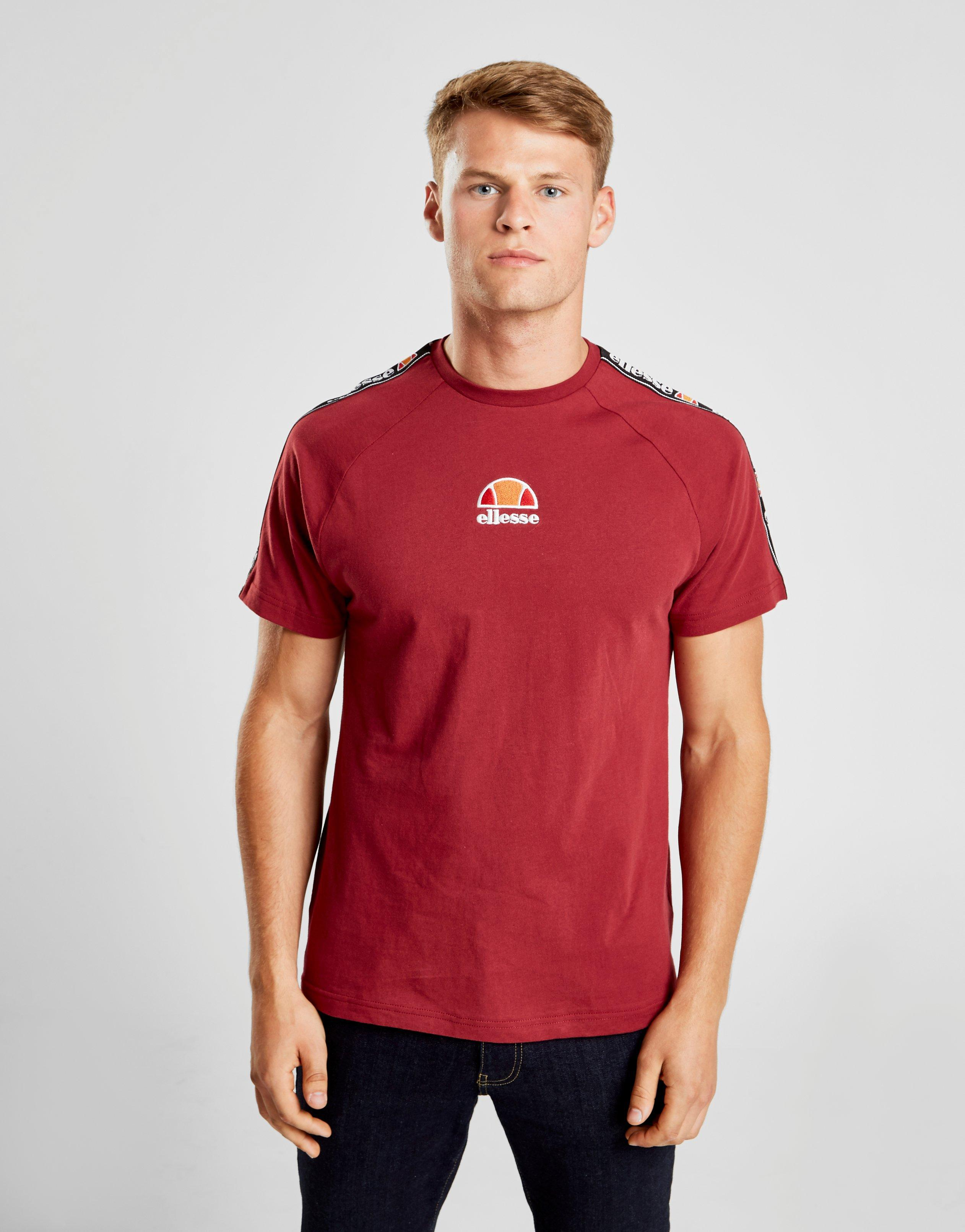 b87183dd Ellesse Ferzio Tape T-shirt in Red for Men - Lyst