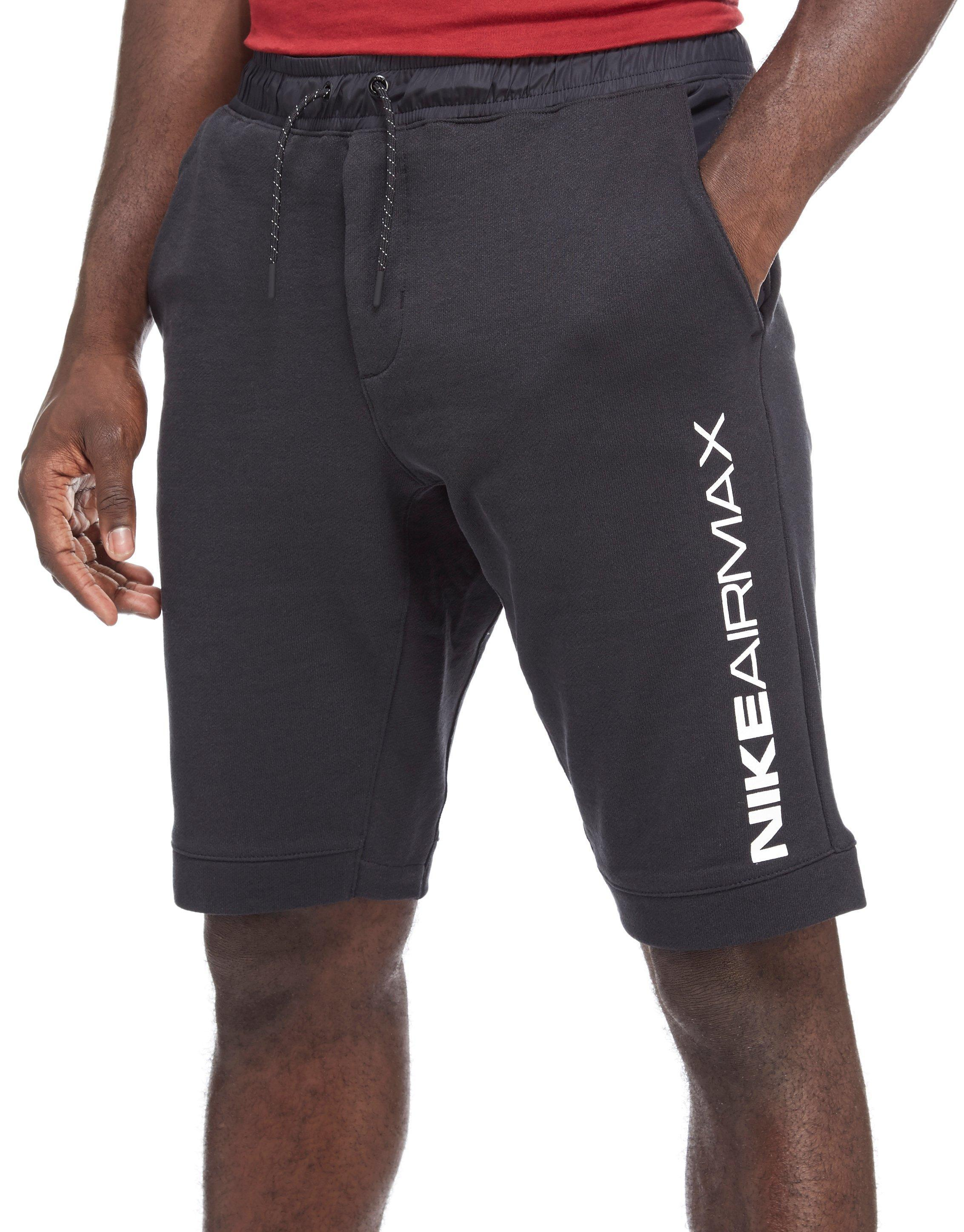 purchase cheap b39e0 f1a1e inexpensive lyst nike air max fleece shorts in black for men 5f114 11788