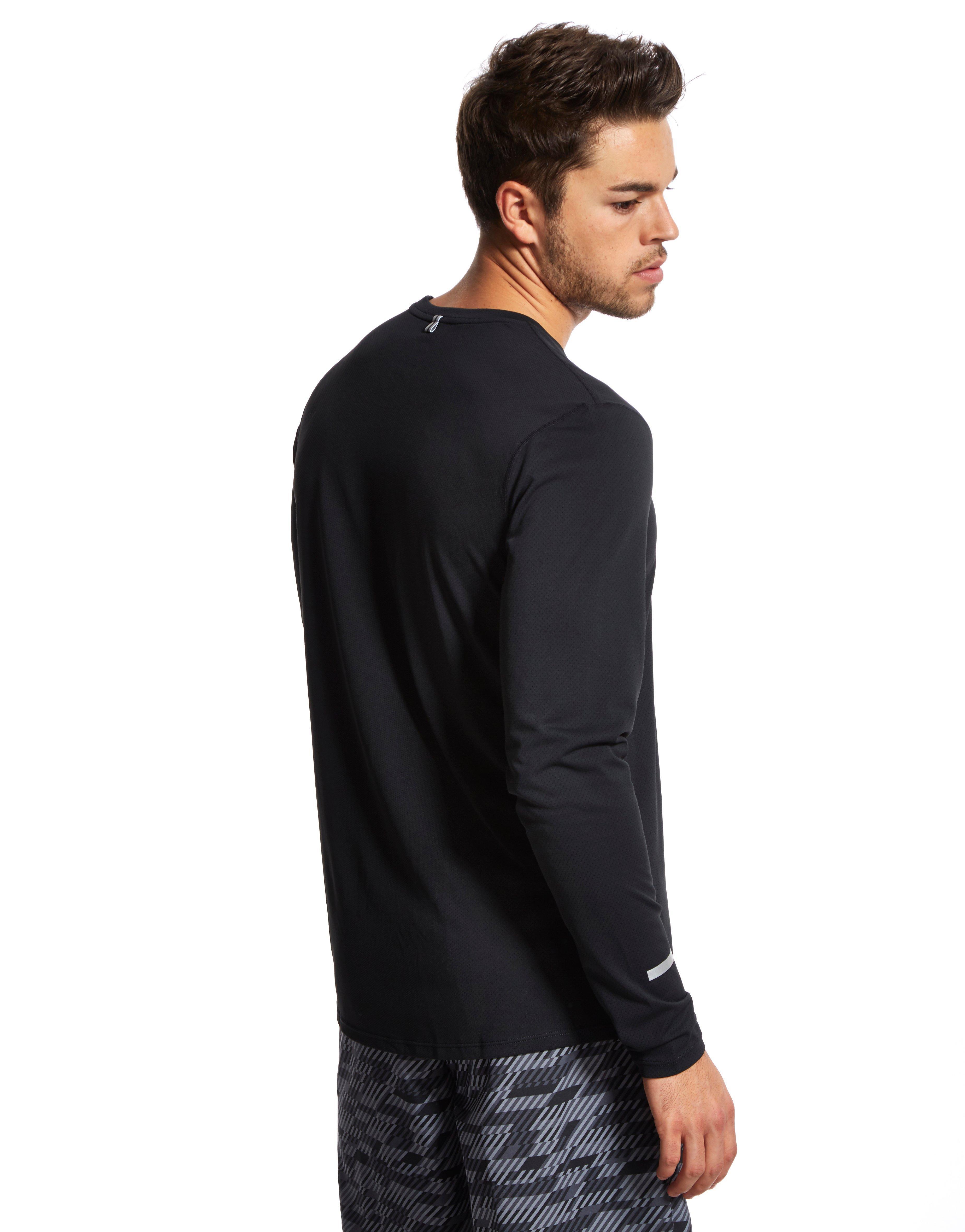 Nike Dri Fit Contour Long Sleeve T Shirt In Black For Men