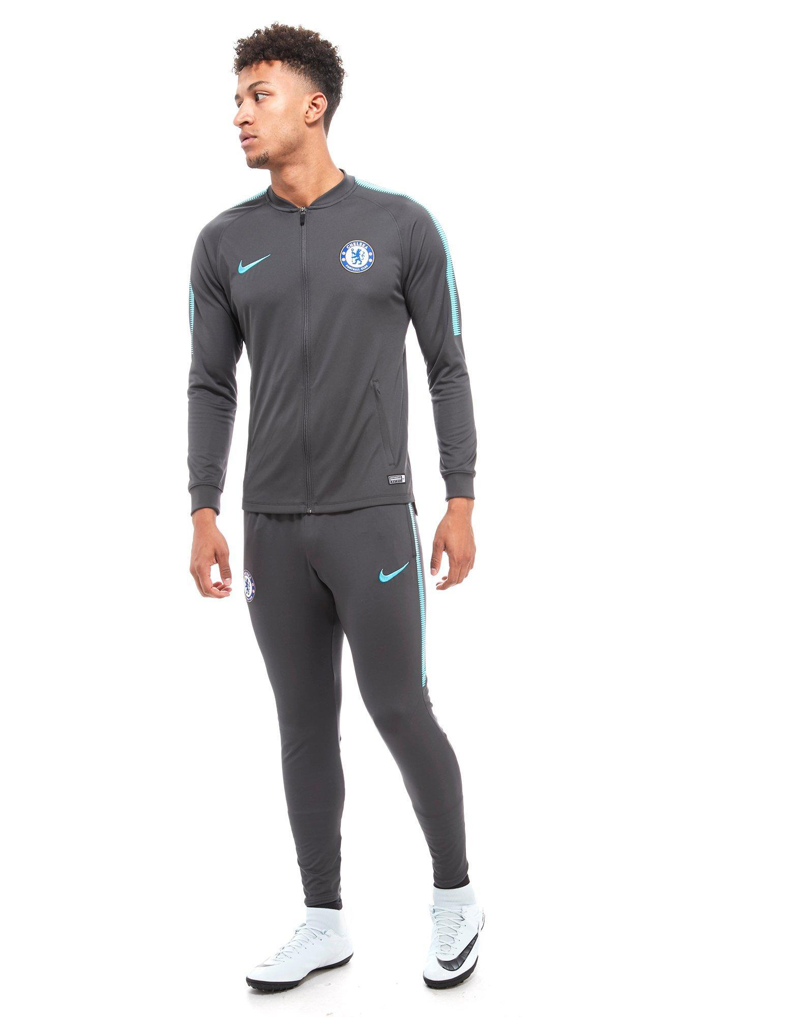 Nike Synthetic Chelsea Fc 2017 Squad Pants in Grey (Grey) for Men