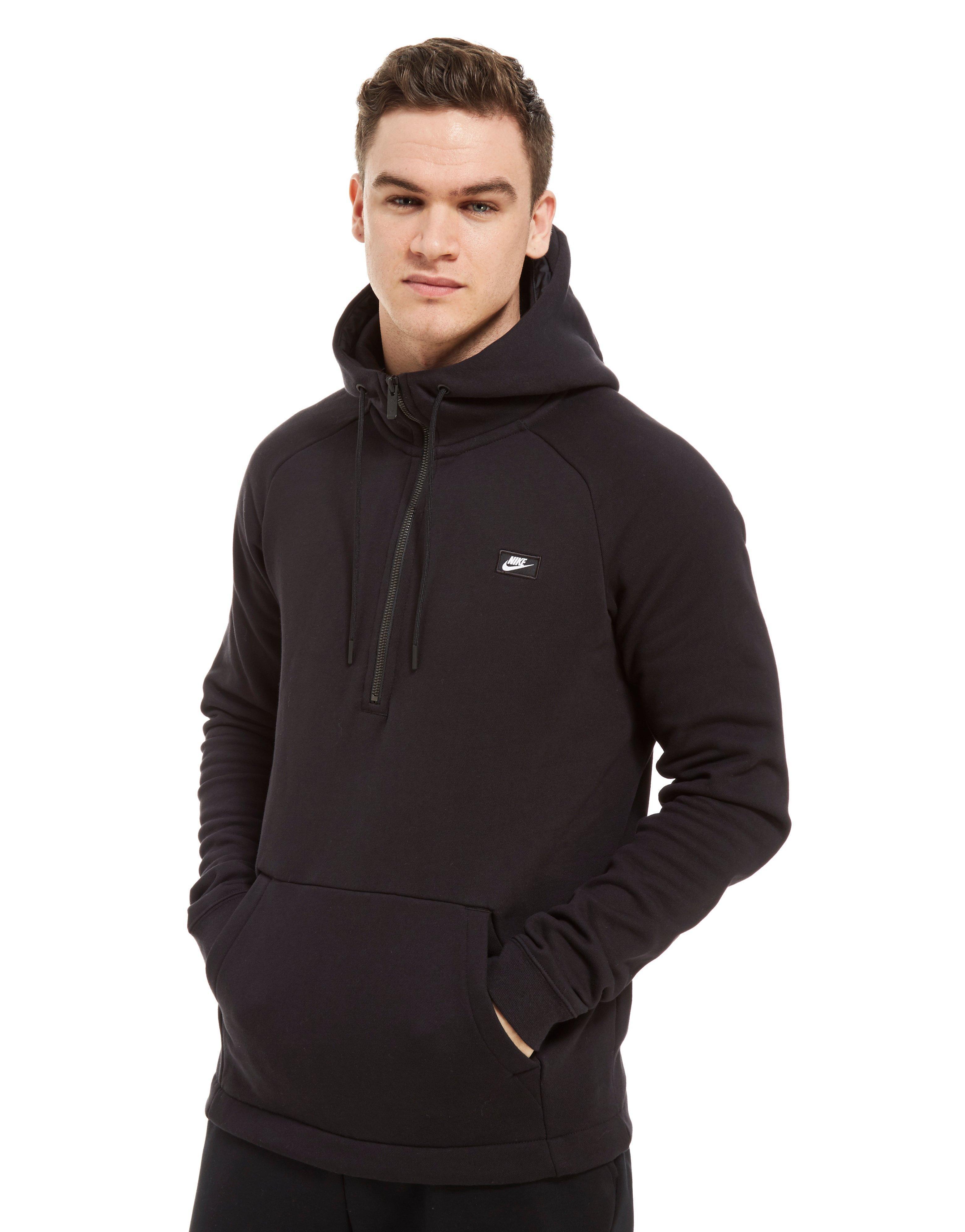 3dcdd5d23 Nike Black Modern Half Zip Hoodie for men