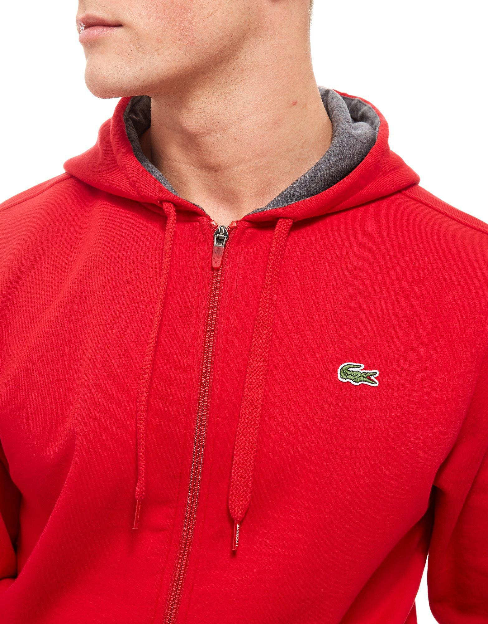 16a052c7 Lacoste Zip Through Core Hoodie in Red for Men - Lyst