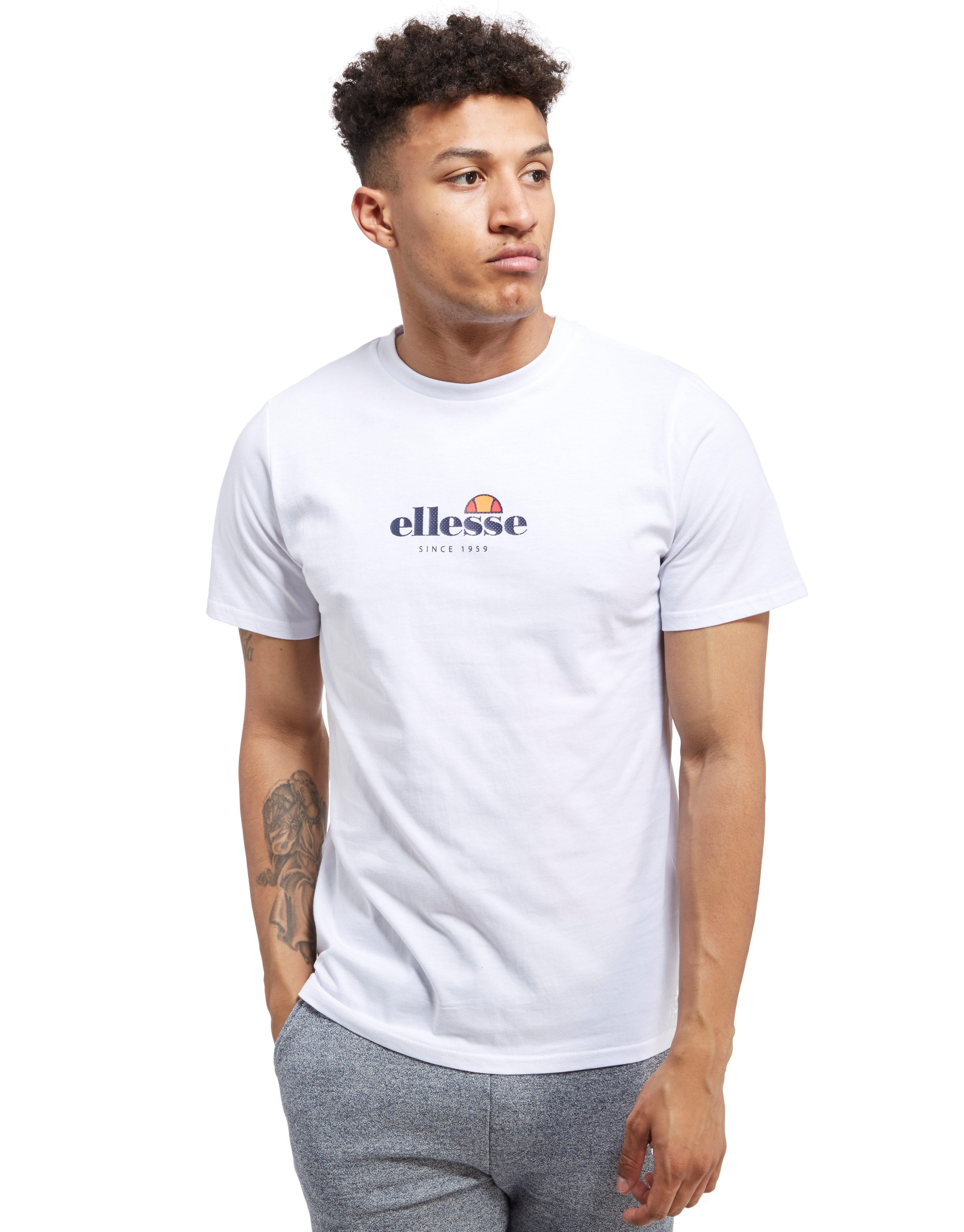 ellesse prino back print t shirt in white for men lyst. Black Bedroom Furniture Sets. Home Design Ideas