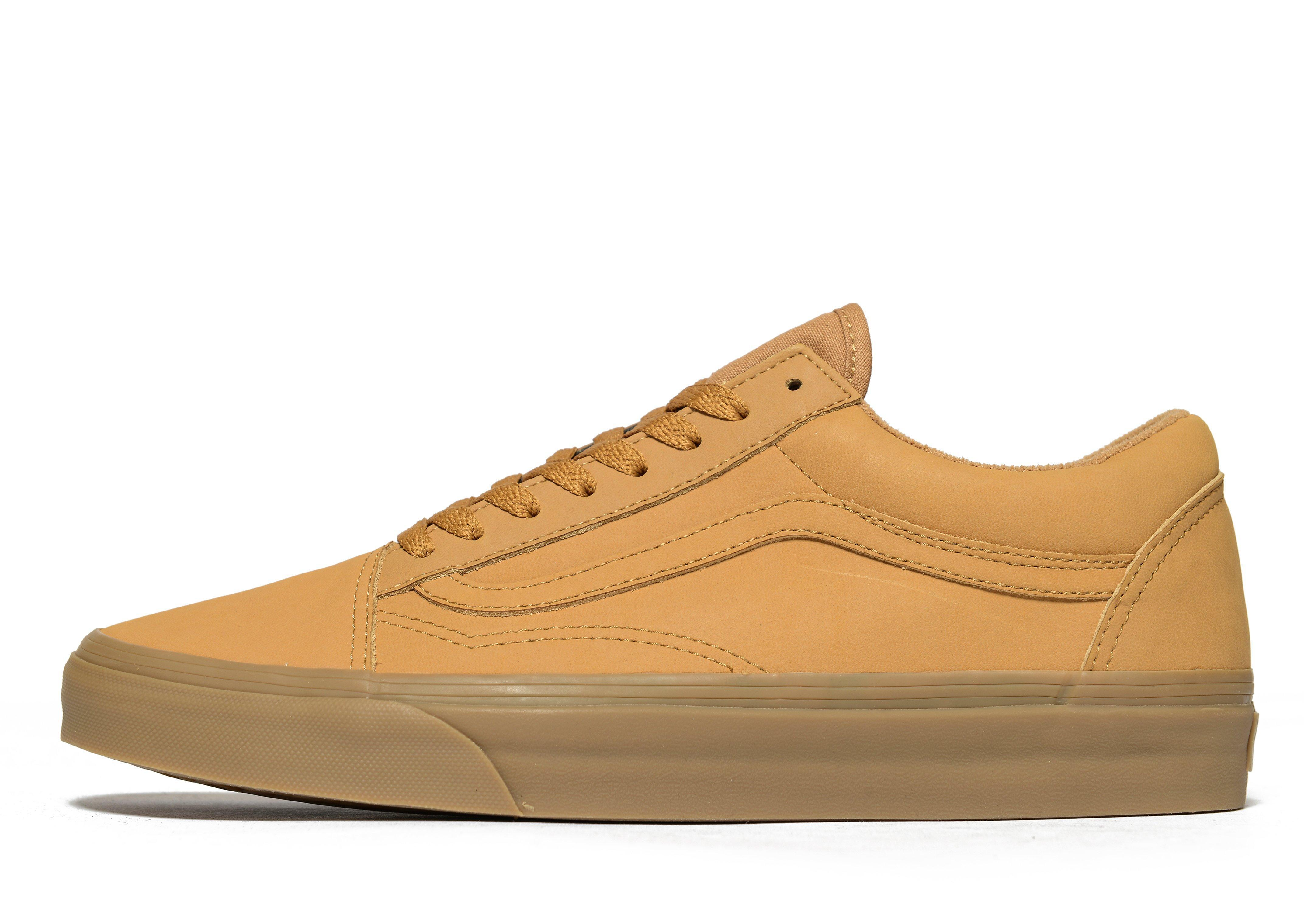 Vans Leather Old Skool in Yellow for