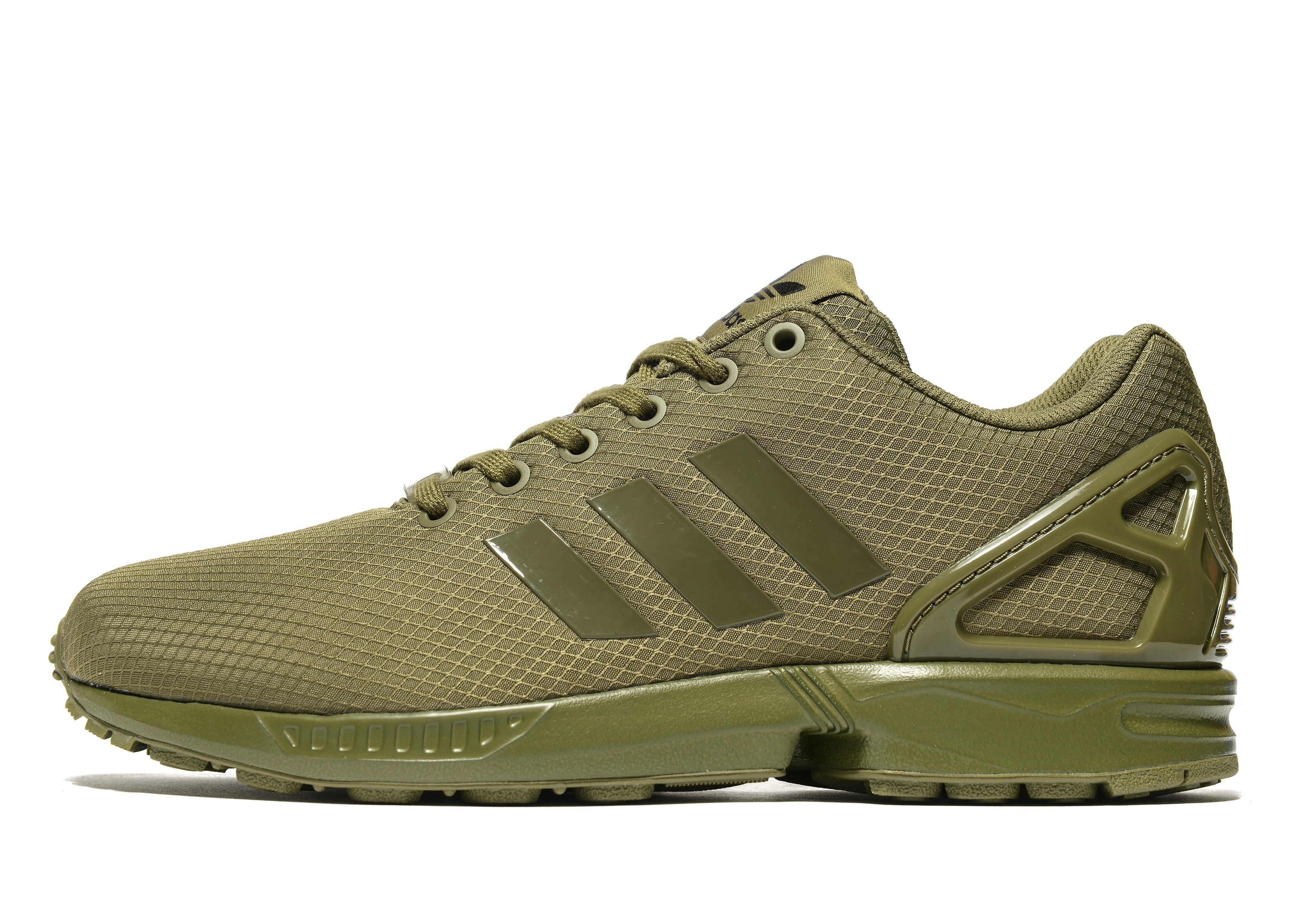91e8a9e60a8bb adidas Originals Zx Flux Ripstop in Green for Men - Lyst