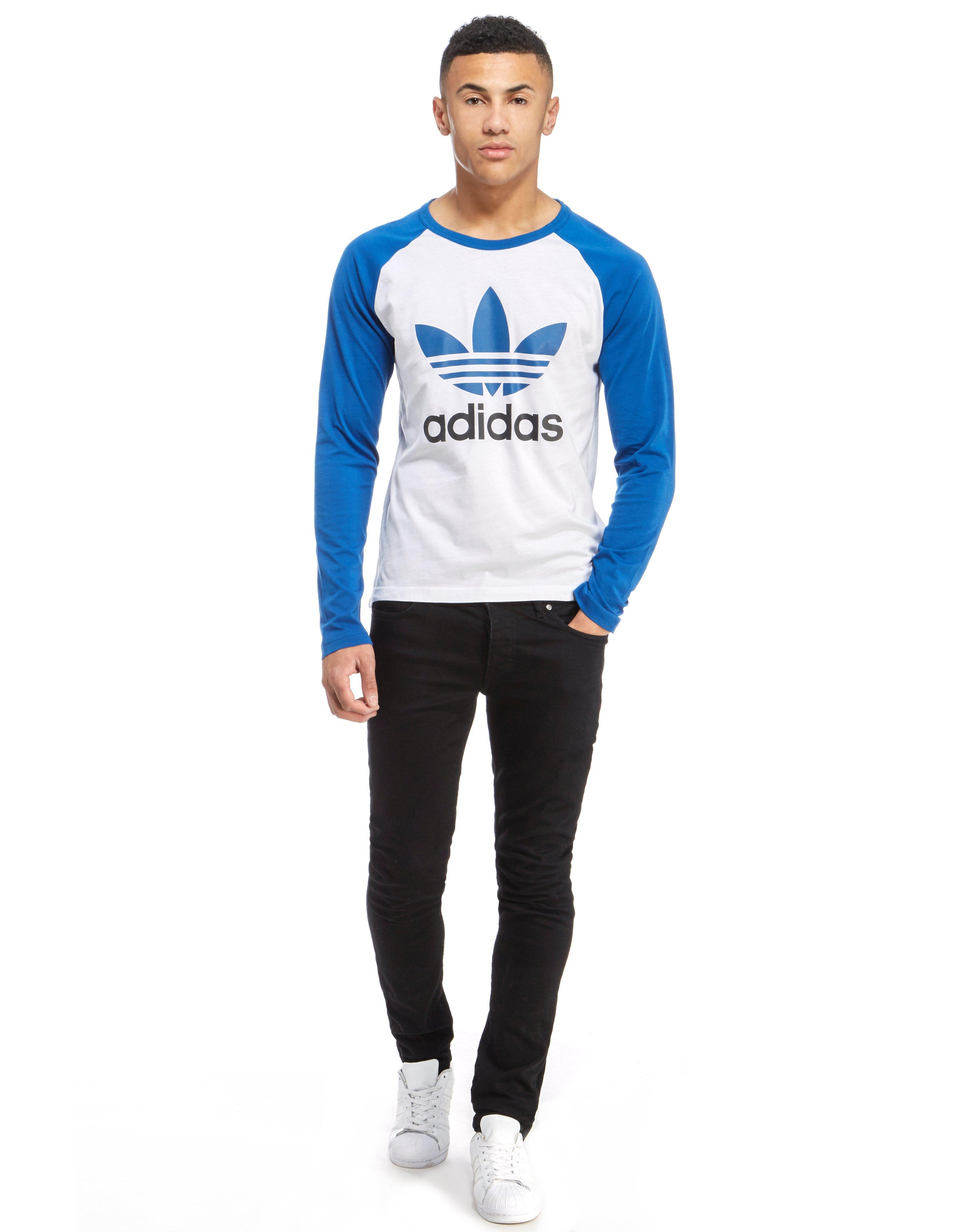 Lyst Adidas Originals Trefoil Longsleeve T Shirt In Blue