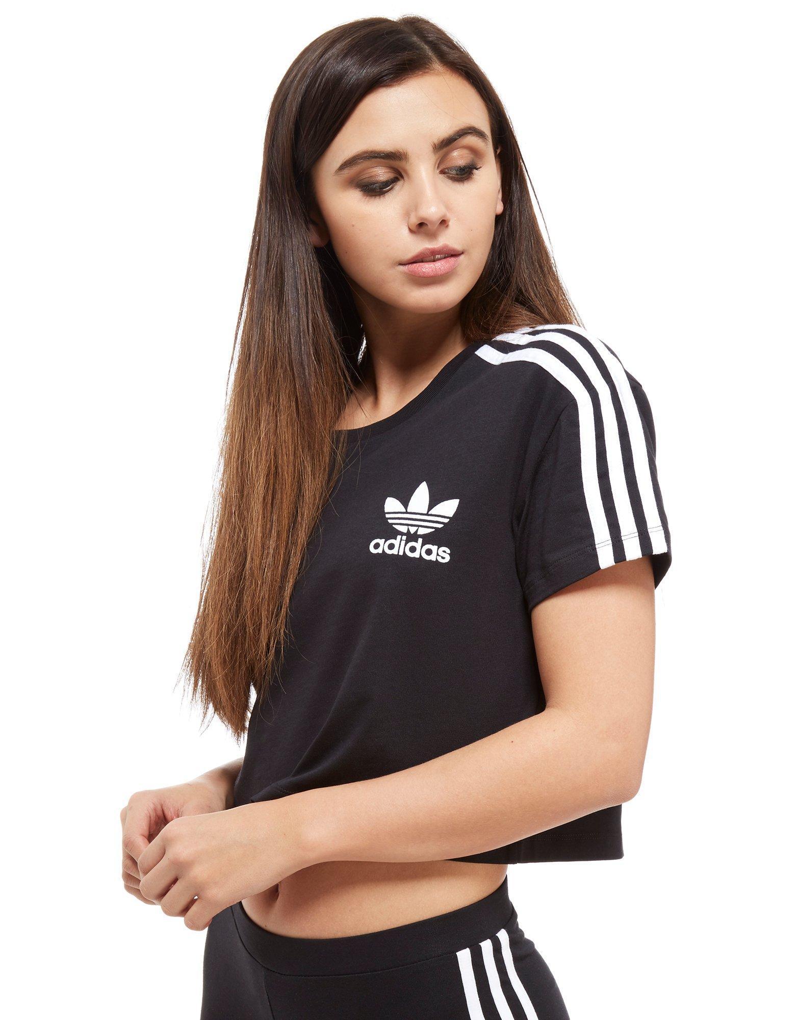 Kaufen adidas Originals Crop California T Shirt Schwarz Für