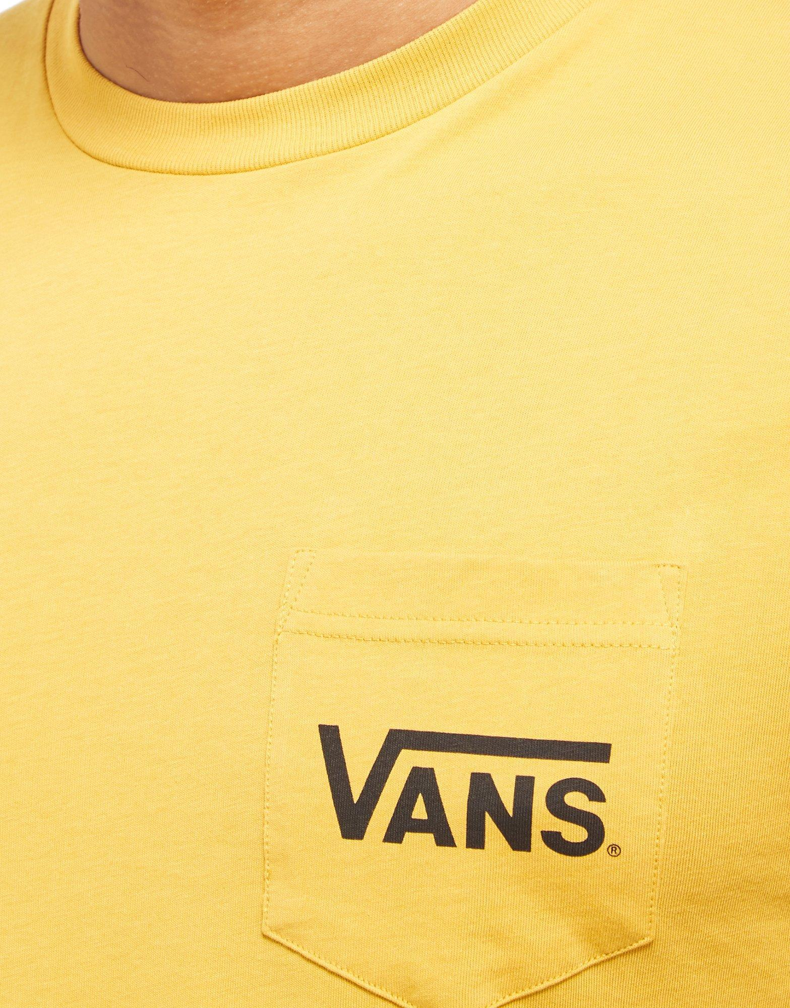 600ecb6838fe30 Vans Off The Wall Chest Pocket T Shirt In Yellow For Men Lyst