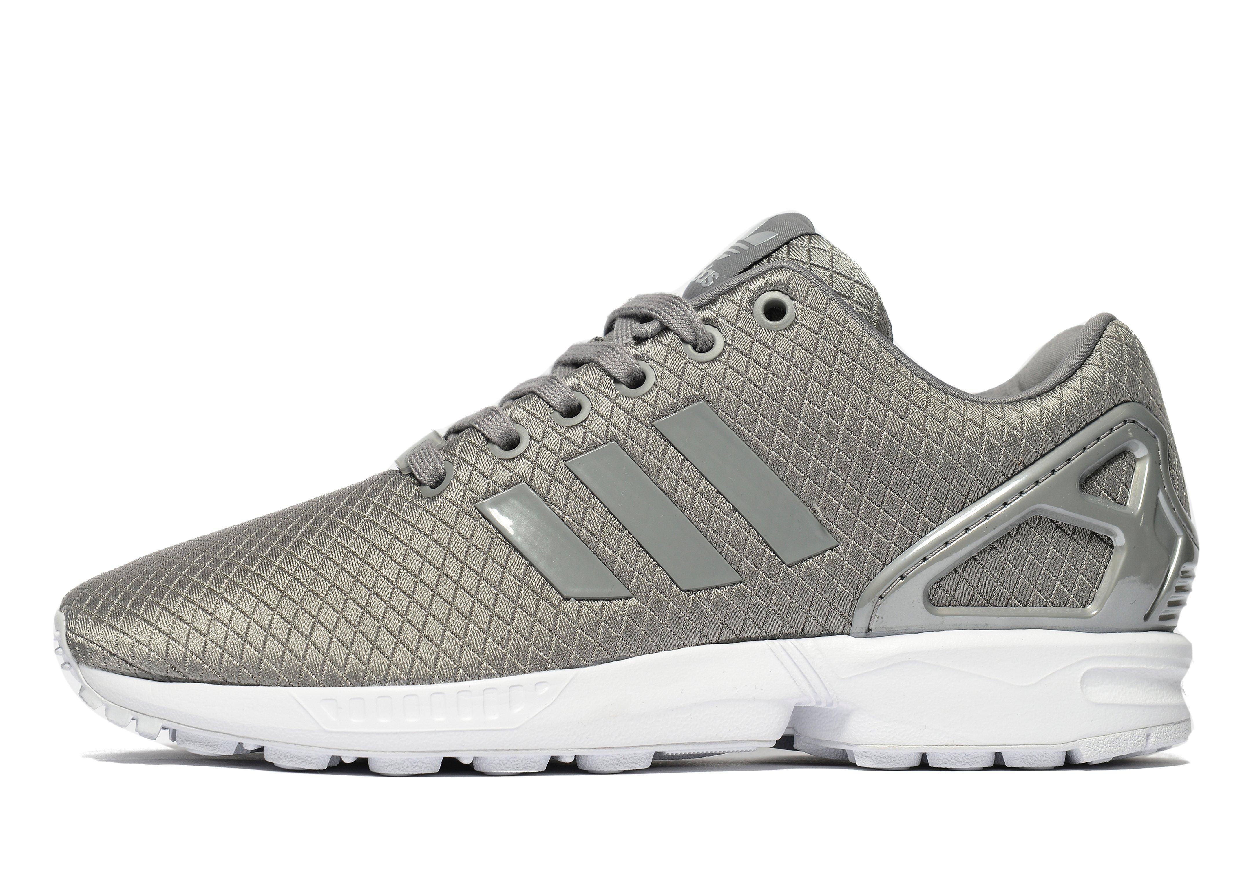 adidas originals synthetic zx flux in gray for men lyst. Black Bedroom Furniture Sets. Home Design Ideas