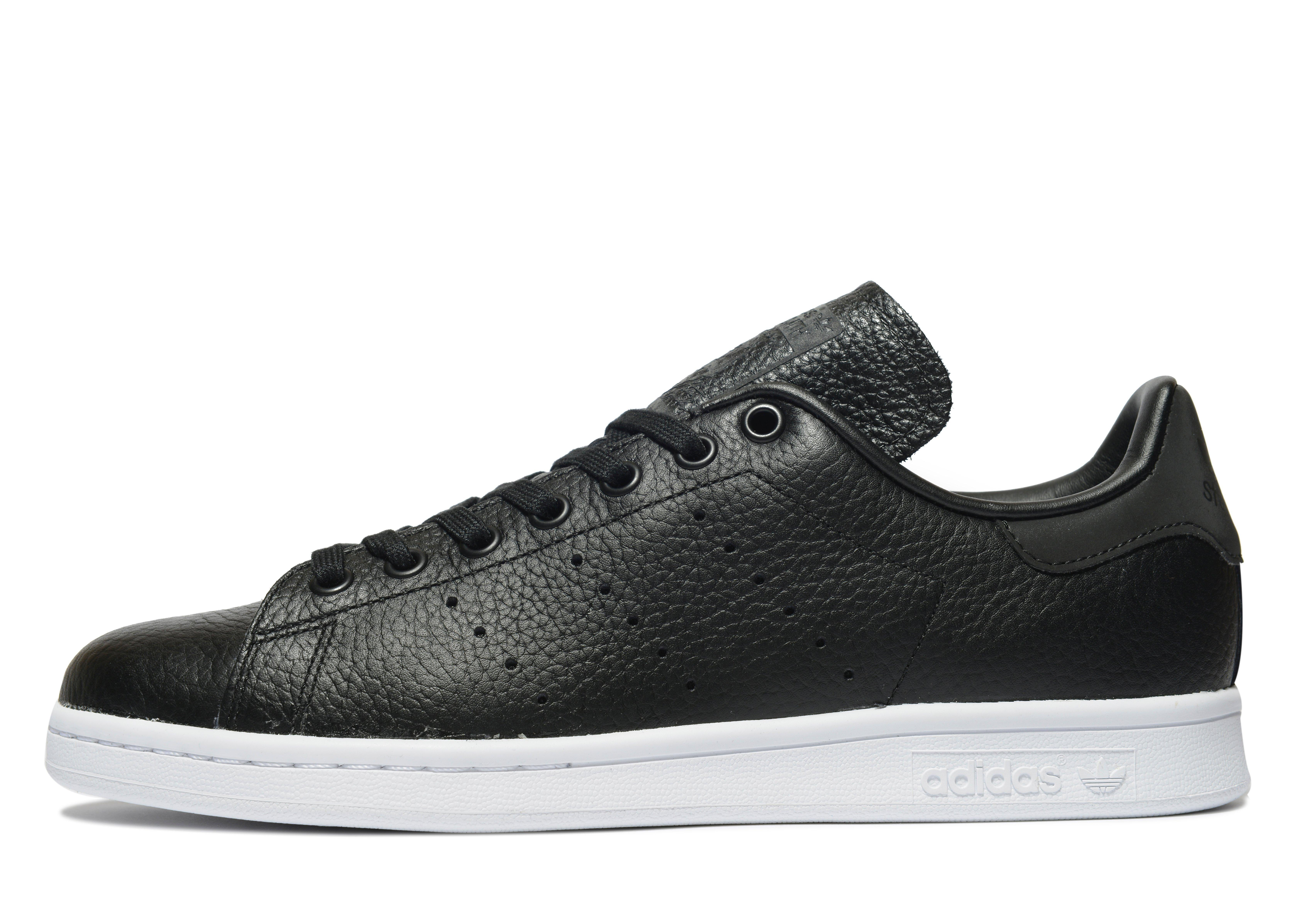 lyst adidas originals stan smith leather in black for men. Black Bedroom Furniture Sets. Home Design Ideas