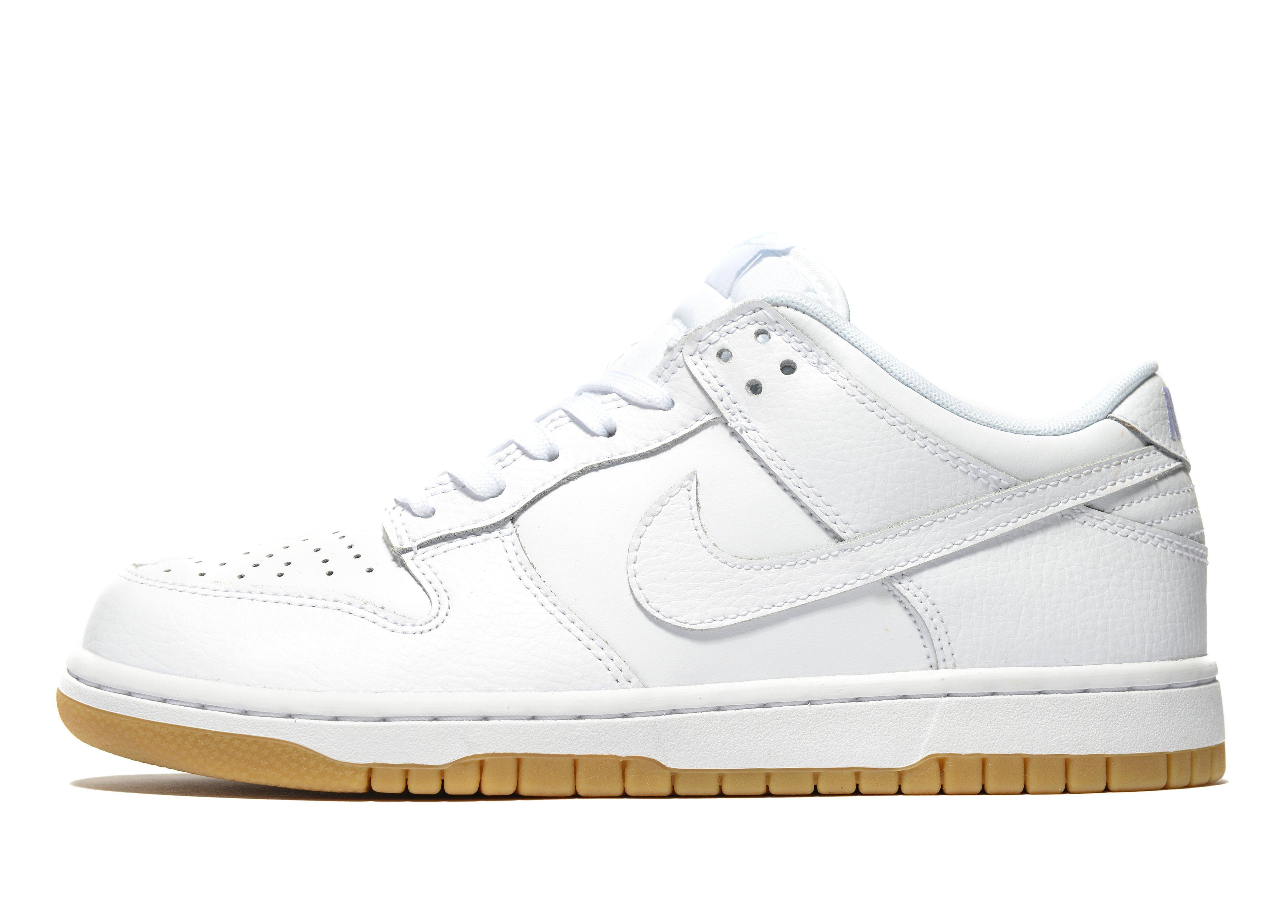 lyst nike dunk low in white