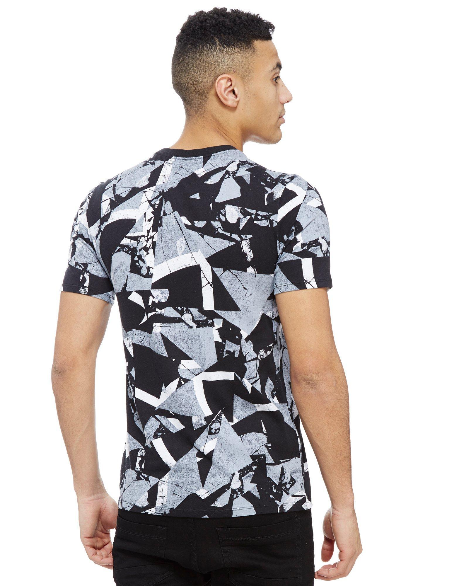 Nike air all over print t shirt in white for men lyst for All over print t shirt