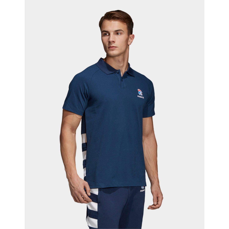 ad05b0d0f adidas French Handball Federation Polo Shirt in Blue for Men - Lyst