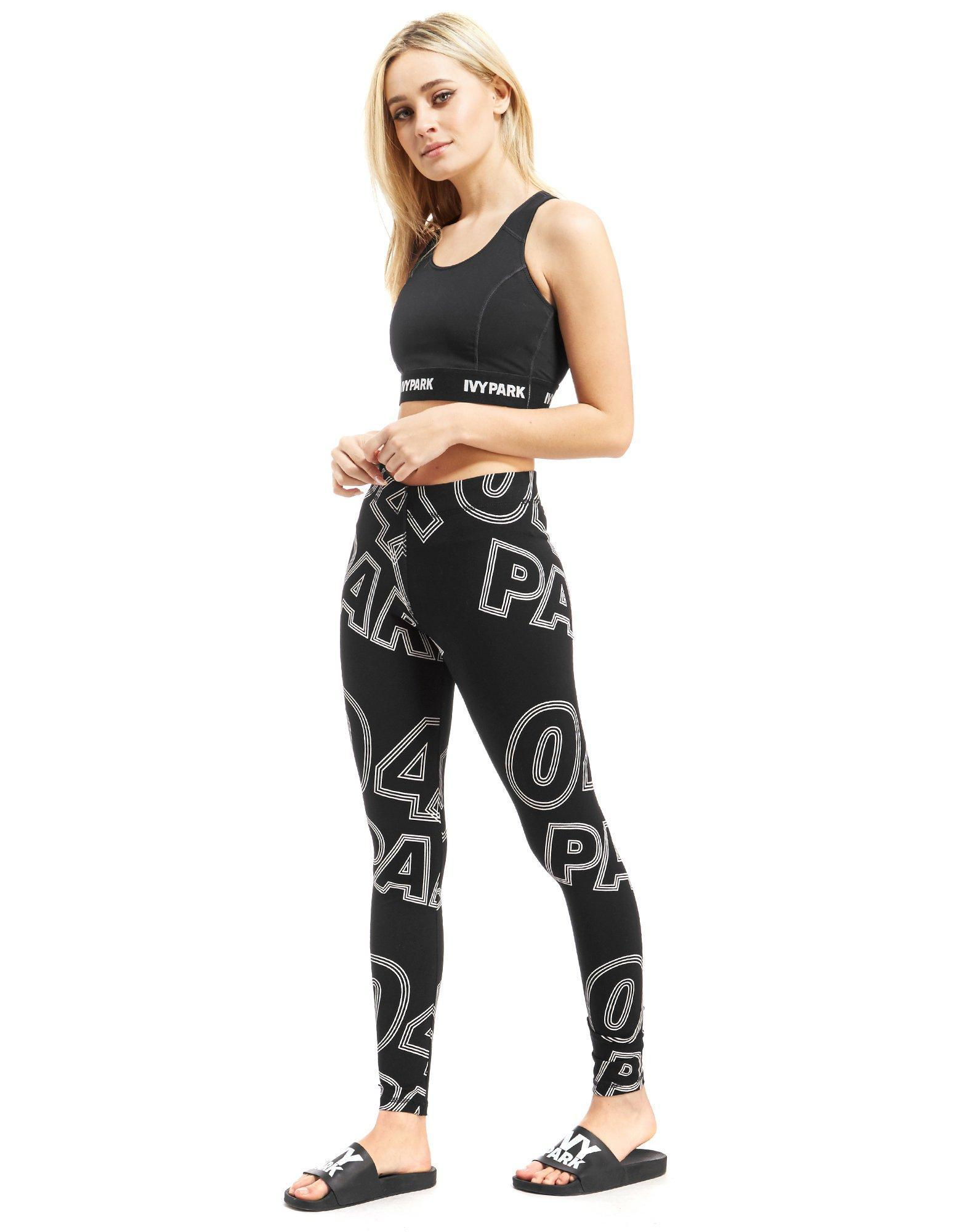 Ivy Park Synthetic All-over Print Leggings in Black