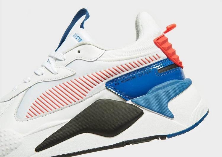 PUMA Leather Rs-x Patent in White/Red