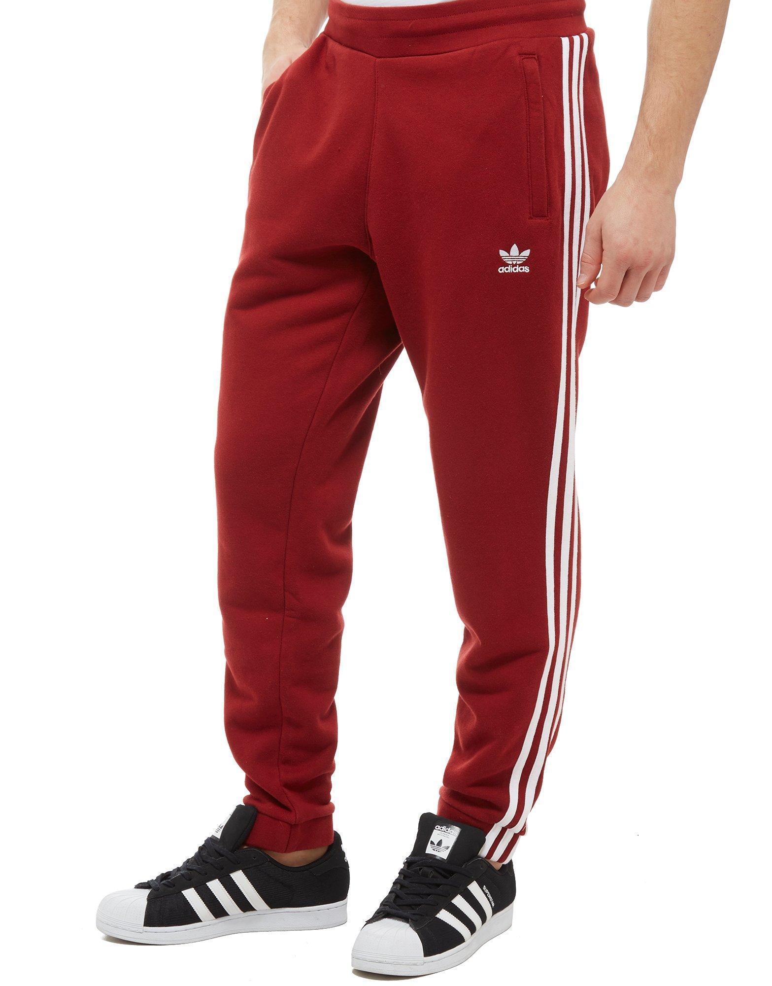 adidas fleece red