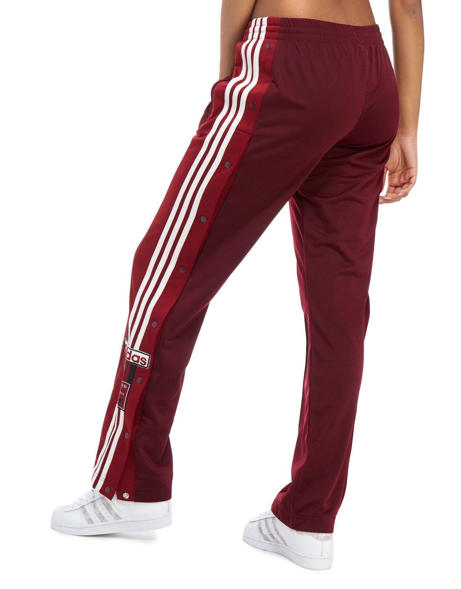 adidas pants red