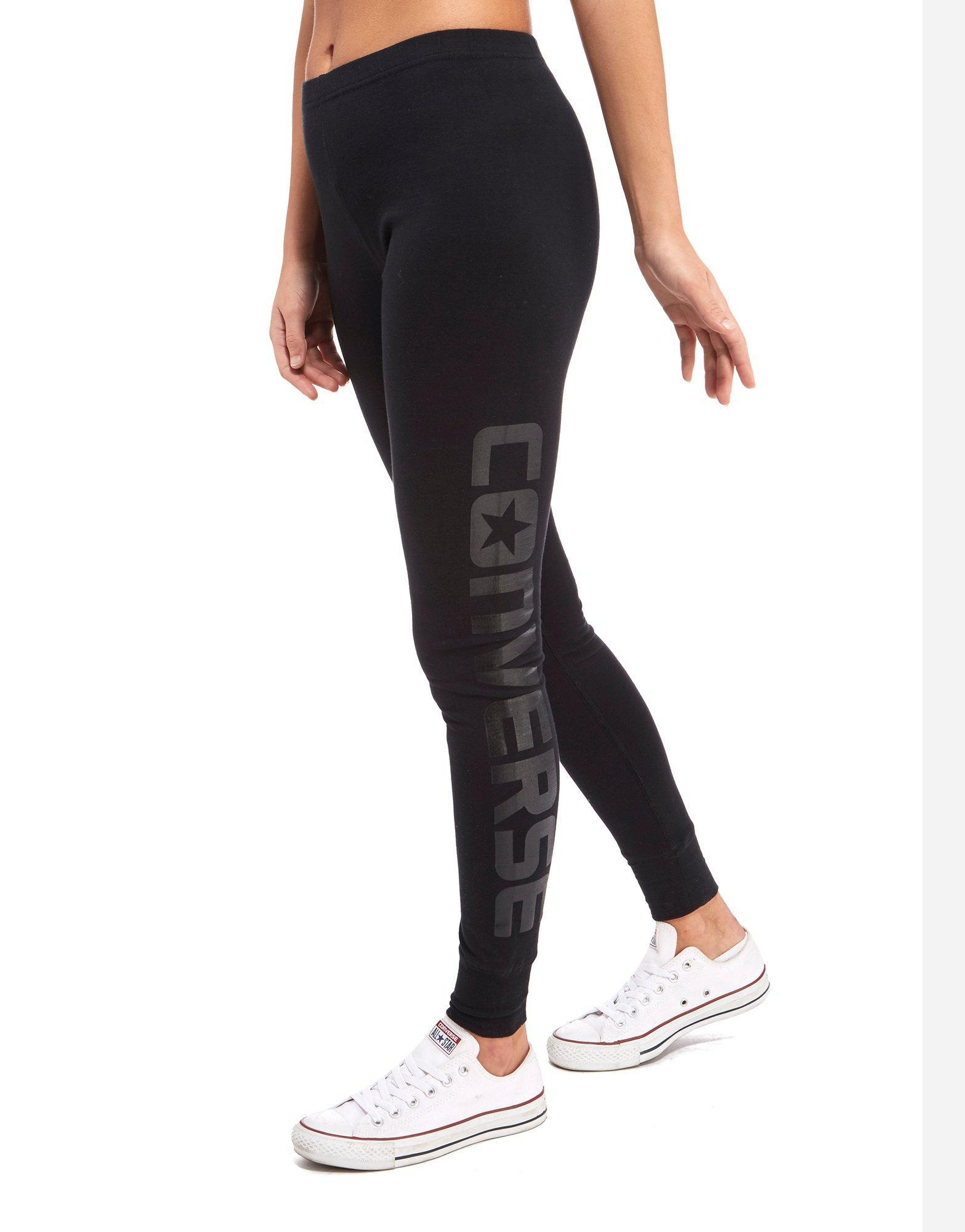 f75da5984d37 Converse Gloss Leggings in Black - Lyst