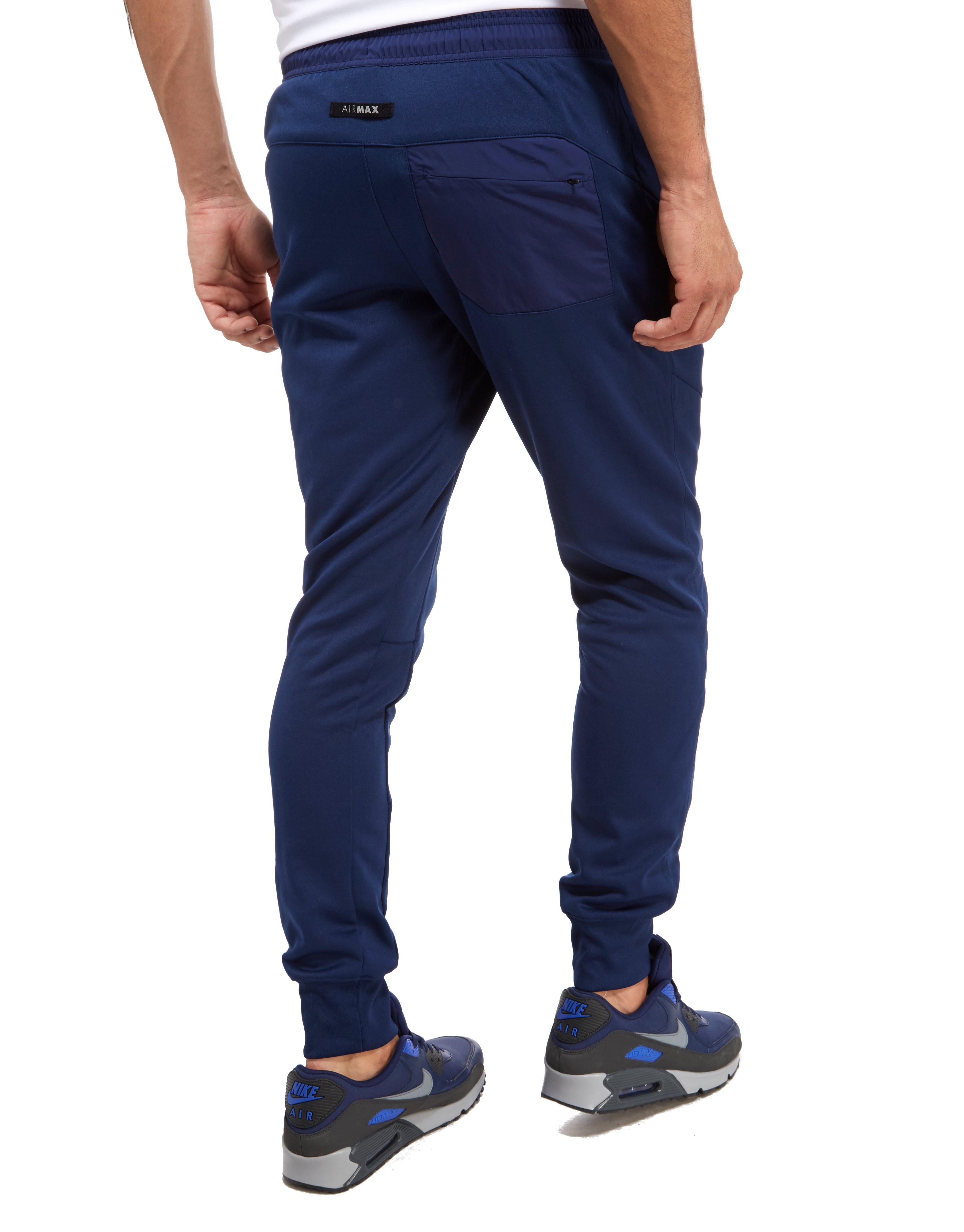 Men's Blue Air Max Poly Track Pants