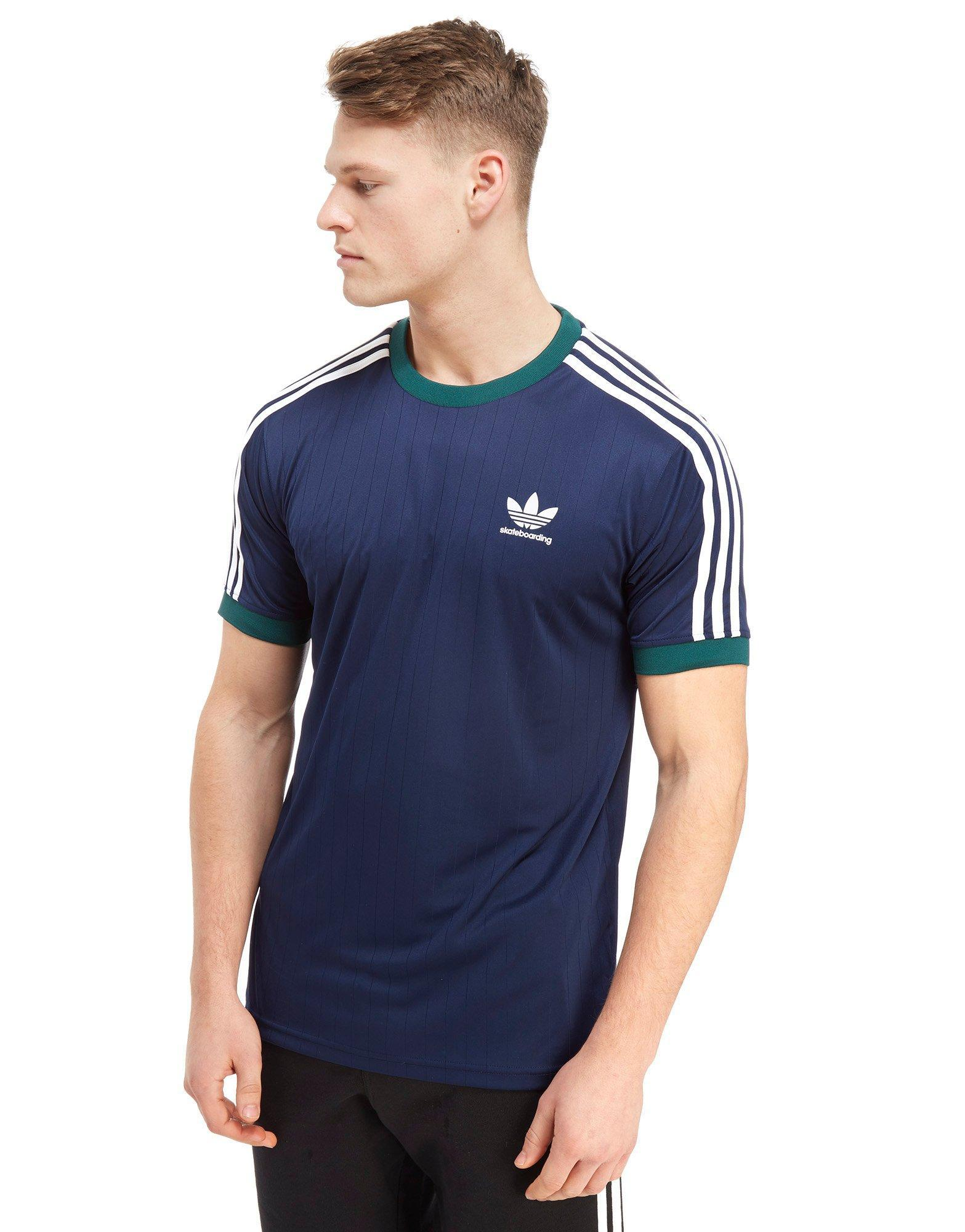 Adidas Originals Blue Skateboarding Poly California T shirt for men