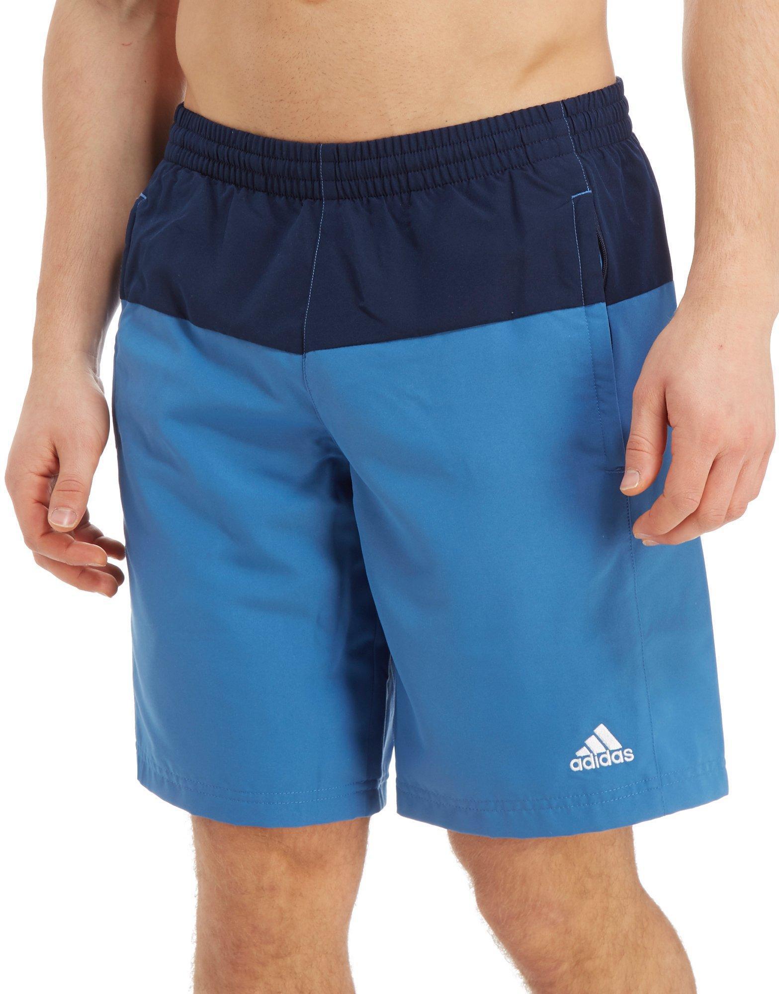 24f750fe91 adidas Colourblock Swim Shorts in Blue for Men - Lyst