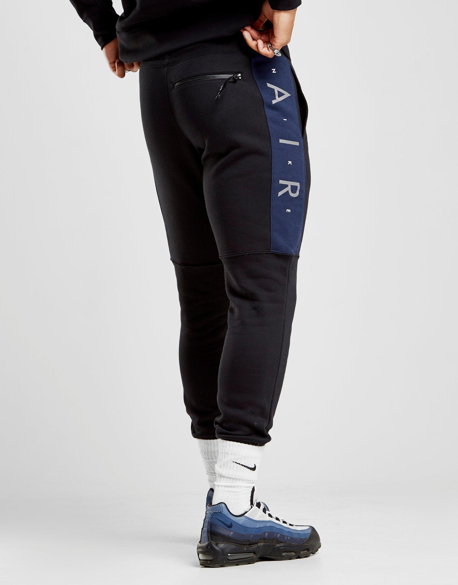 nike air black fleece jogger ea9a83fdf22